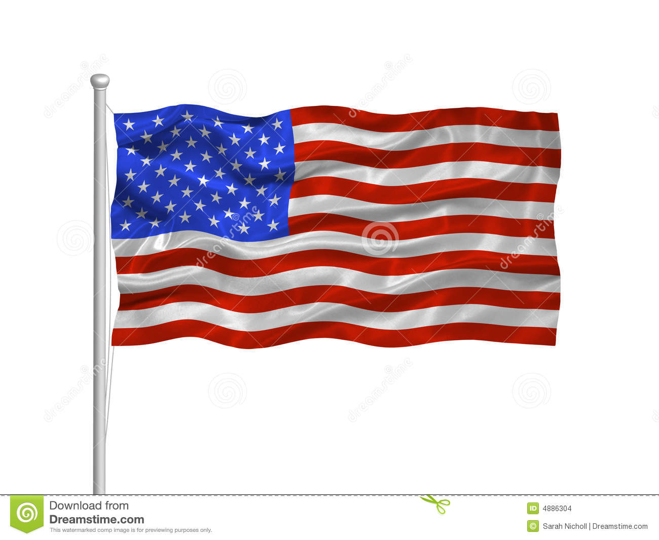 United States Flag 2 Stock Images - Image: 4886304