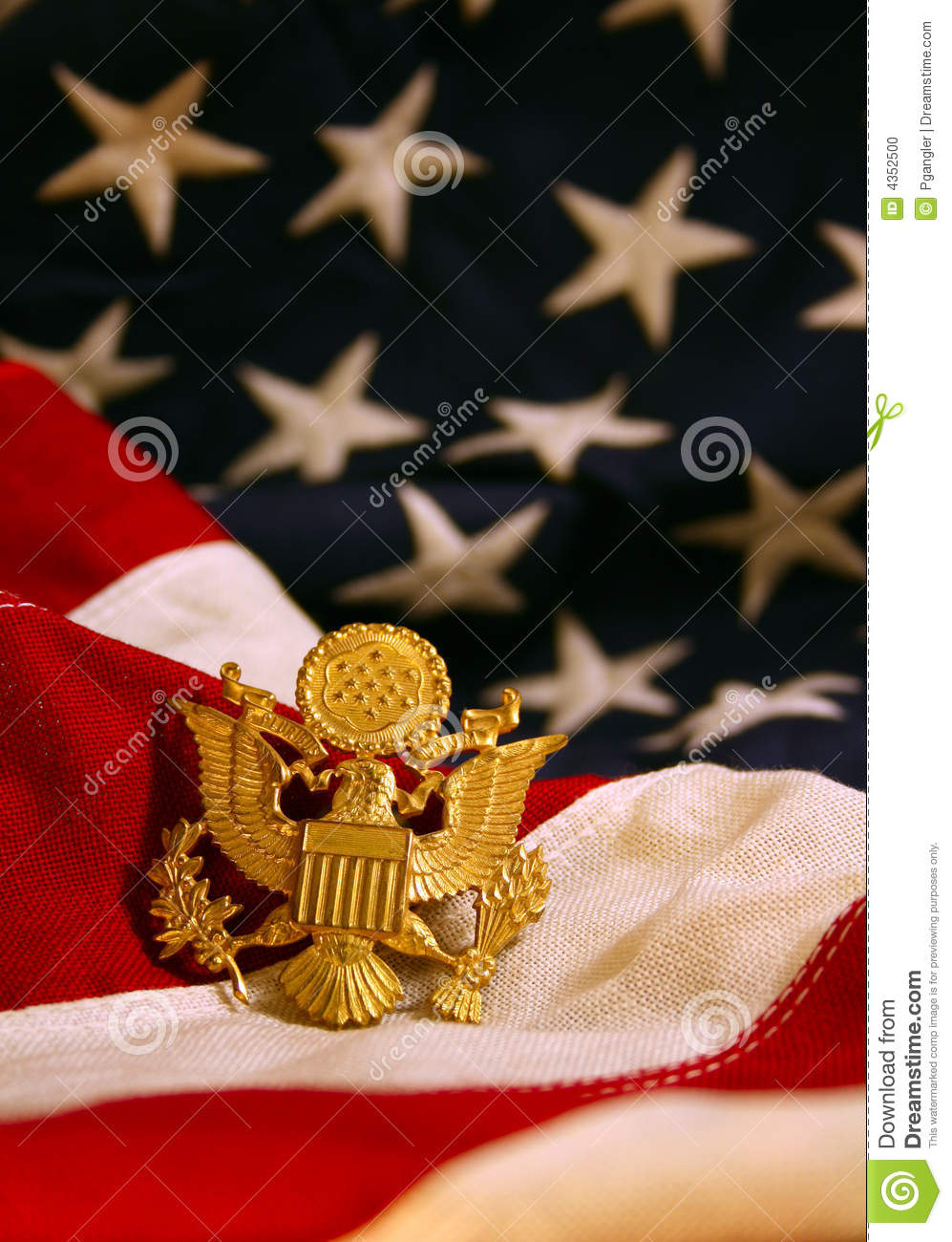 United States Flag Background with Eagle Emblem