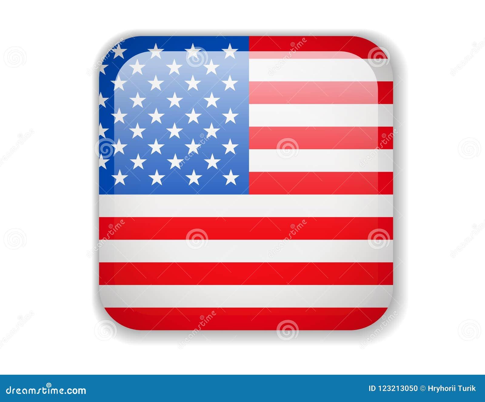 e57646139aa1 United States Flag. Bright Square Icon. Vector Illustration. More similar  stock illustrations