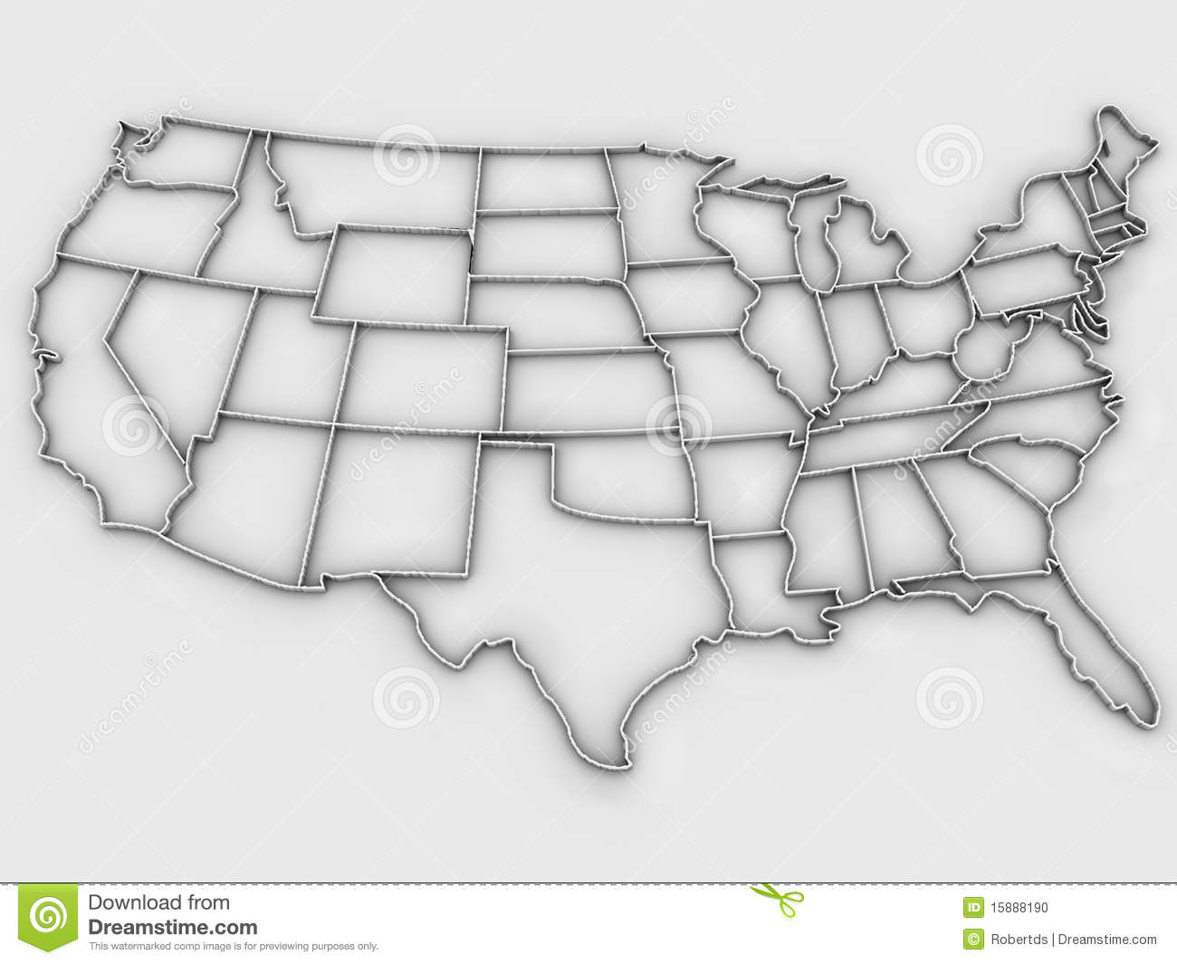 United States map 3d stock illustration. Illustration of isolated