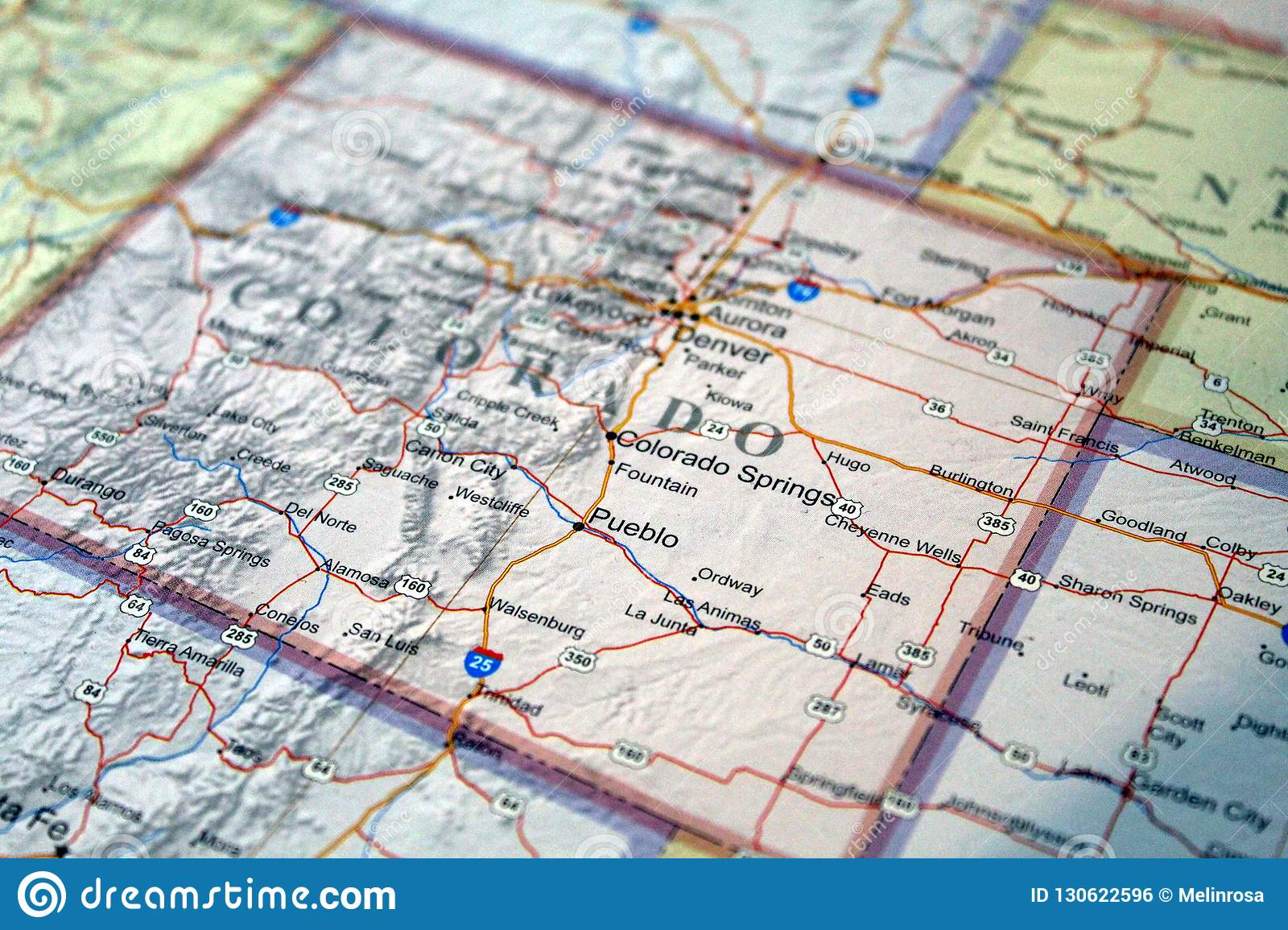 United States Map Close Up Of Colorado Stock Photo Image Of - Us-map-close-up