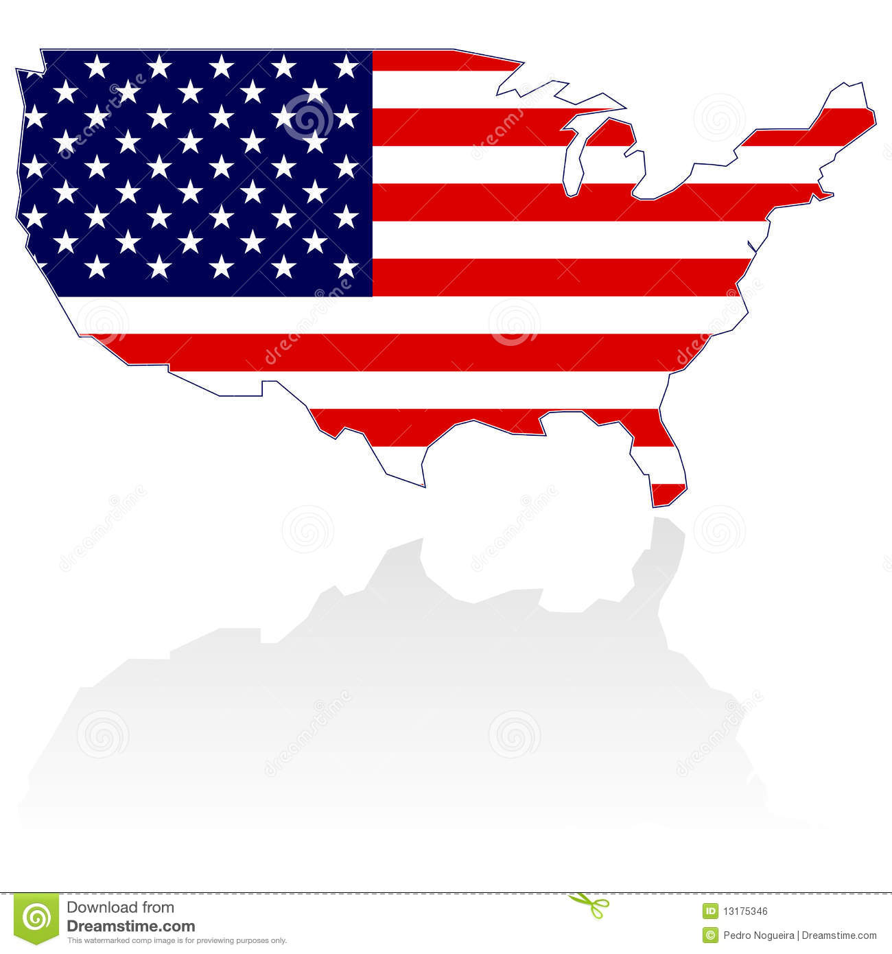 United States Map And Flag Royalty Free Stock Image Image - Us map with glag