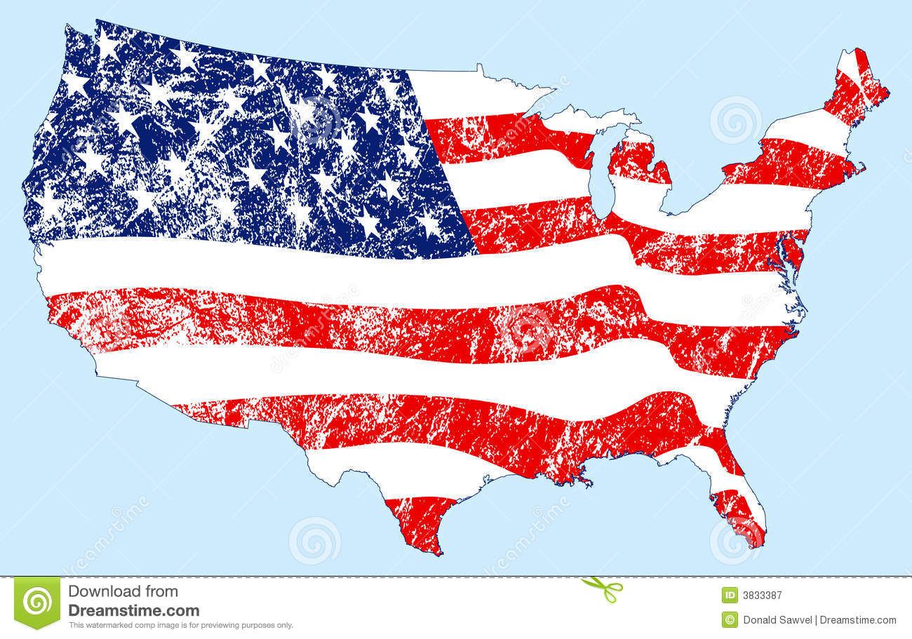 American Flag Map Grunge Royalty Free Stock Photography Image - Us flag map
