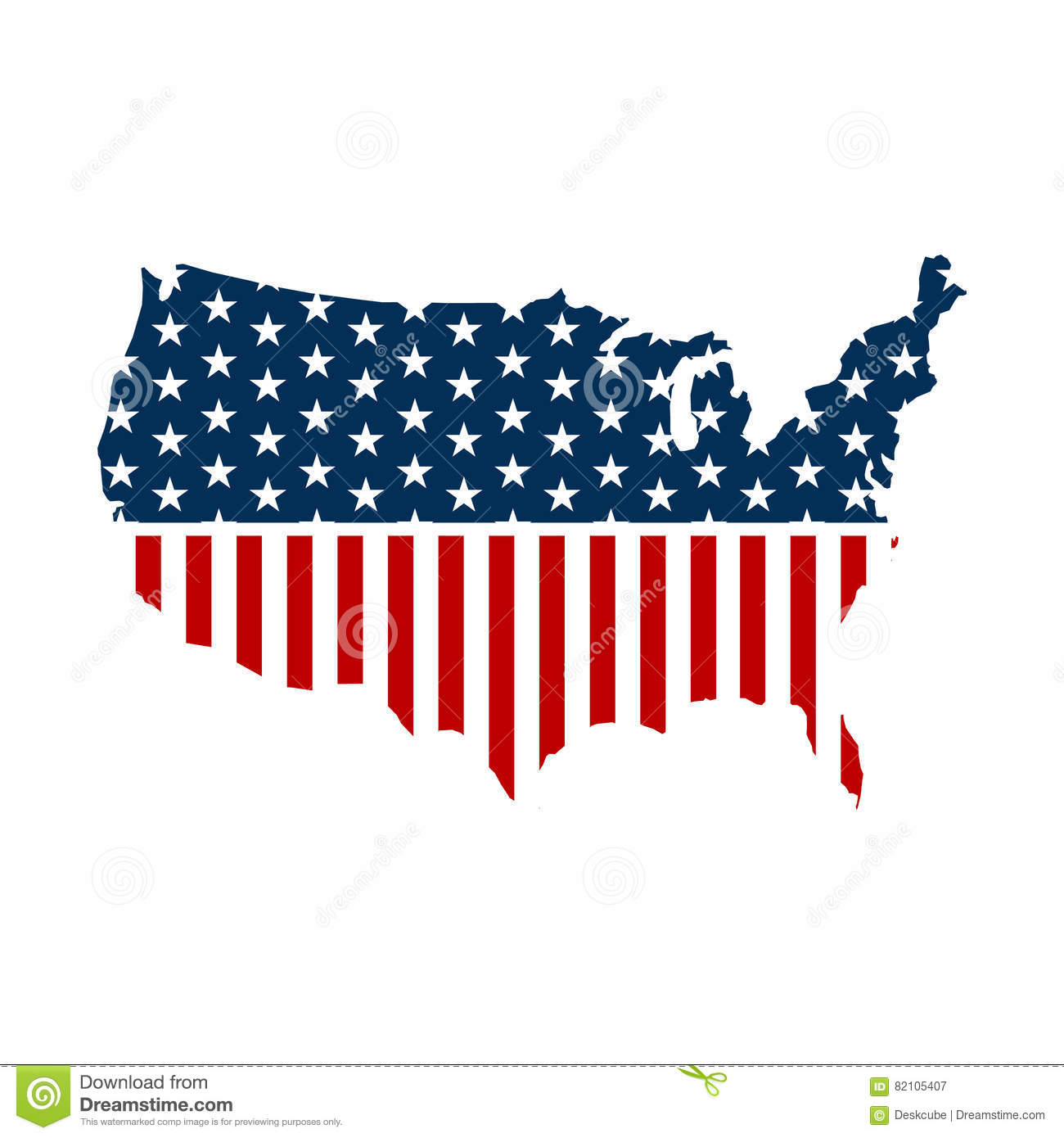 United States Map With Stars And Stripes Stock Vector - Illustration on nh us map, nc us map, state us map, name us map, time us map, ne us map, iq us map, or us map, lv us map, split us map, ks us map, se us map, pacific northwest region us map, wi us map, wv us map, va us map, ny us map, az us map, ma us map,