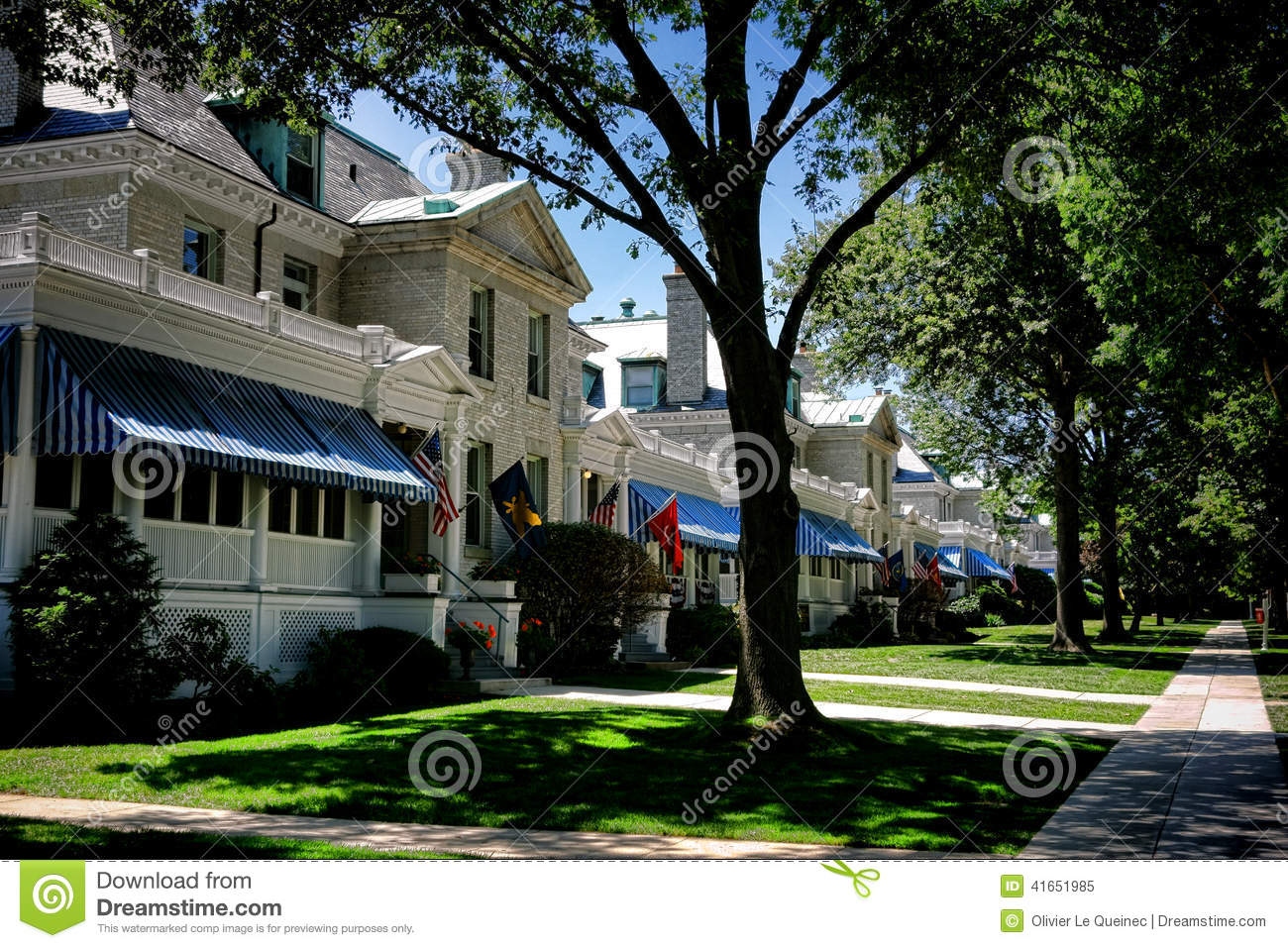 united states naval academy housing in annapolis md stock