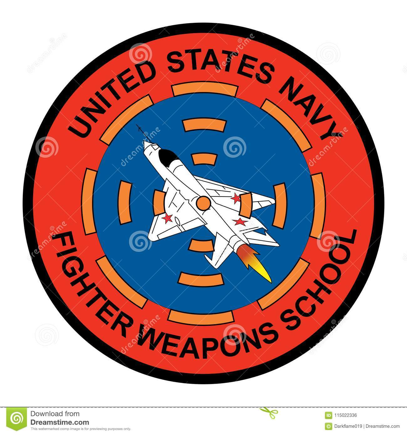 United States Navy Fighter Weapons School Logo Stock