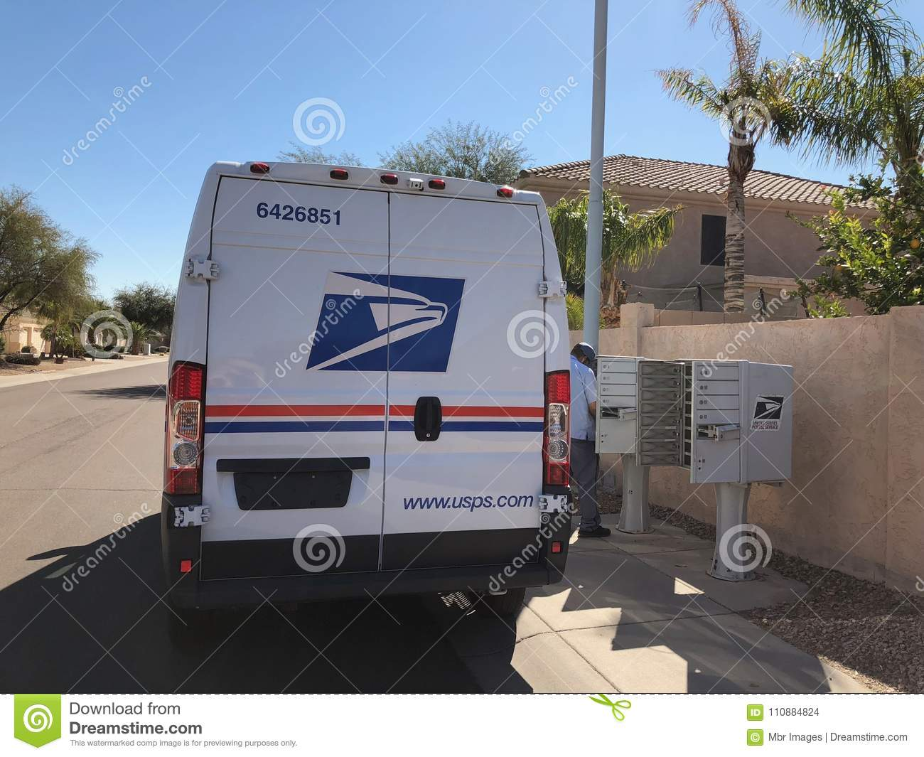 Usps Delivery Van In Arizona Editorial Stock Image Image Of Photo