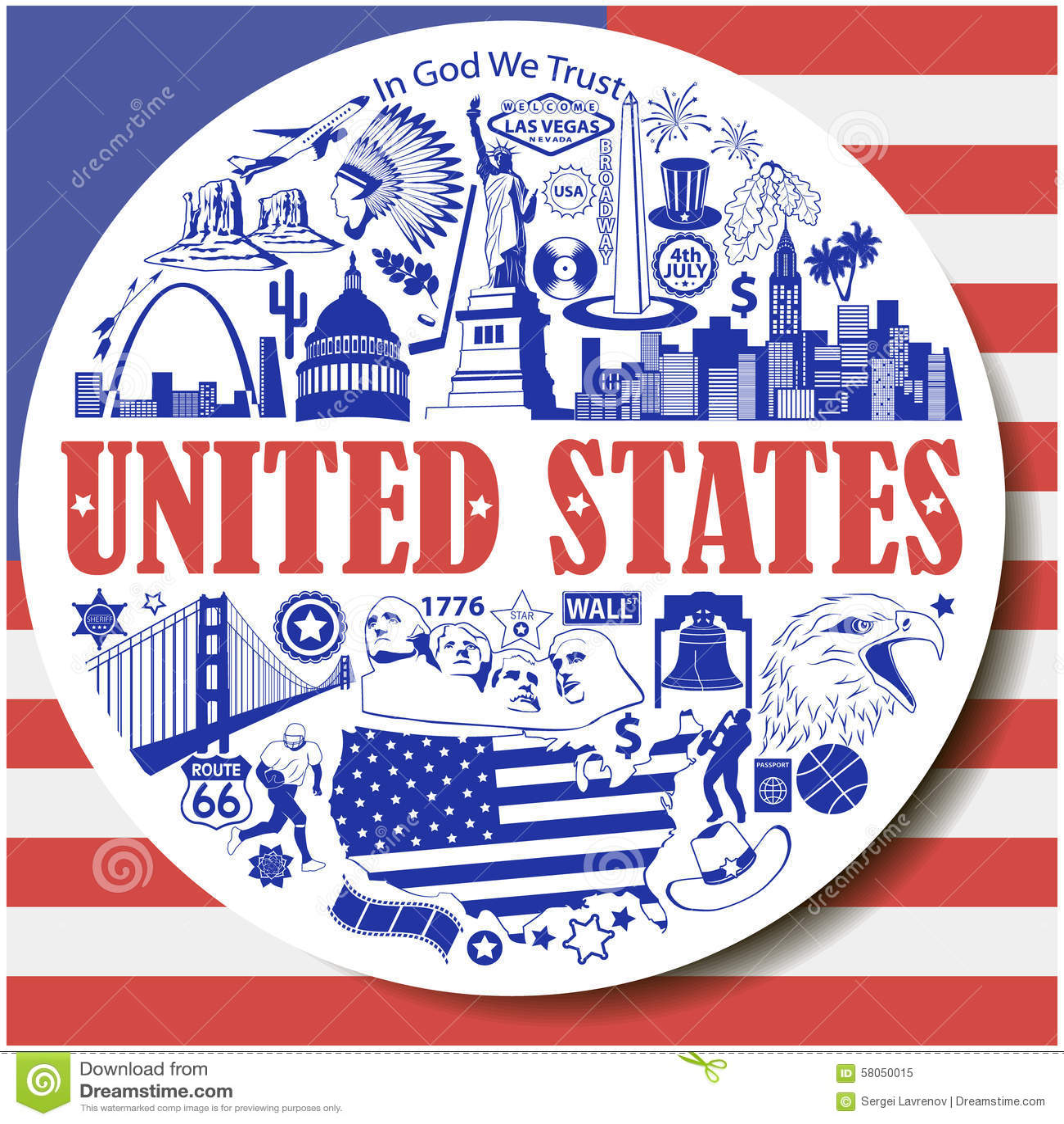 United States Map With Landmarks Stock Image Image - Usa map and landmarks