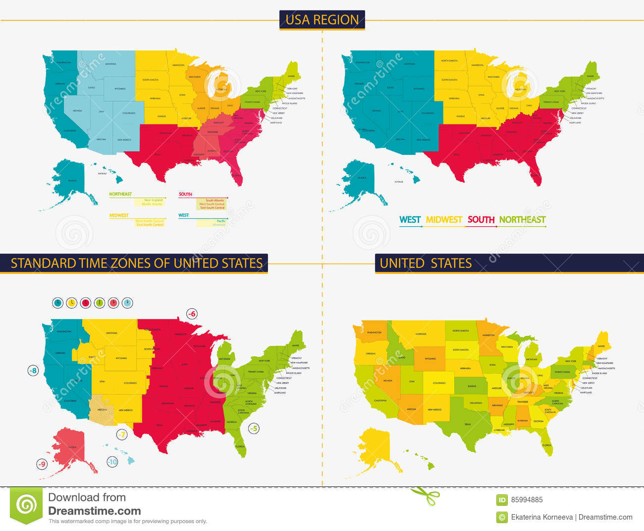 Usa Midwest Map Mapsofnet Midwest United States Of America Travel - Map us midwest states