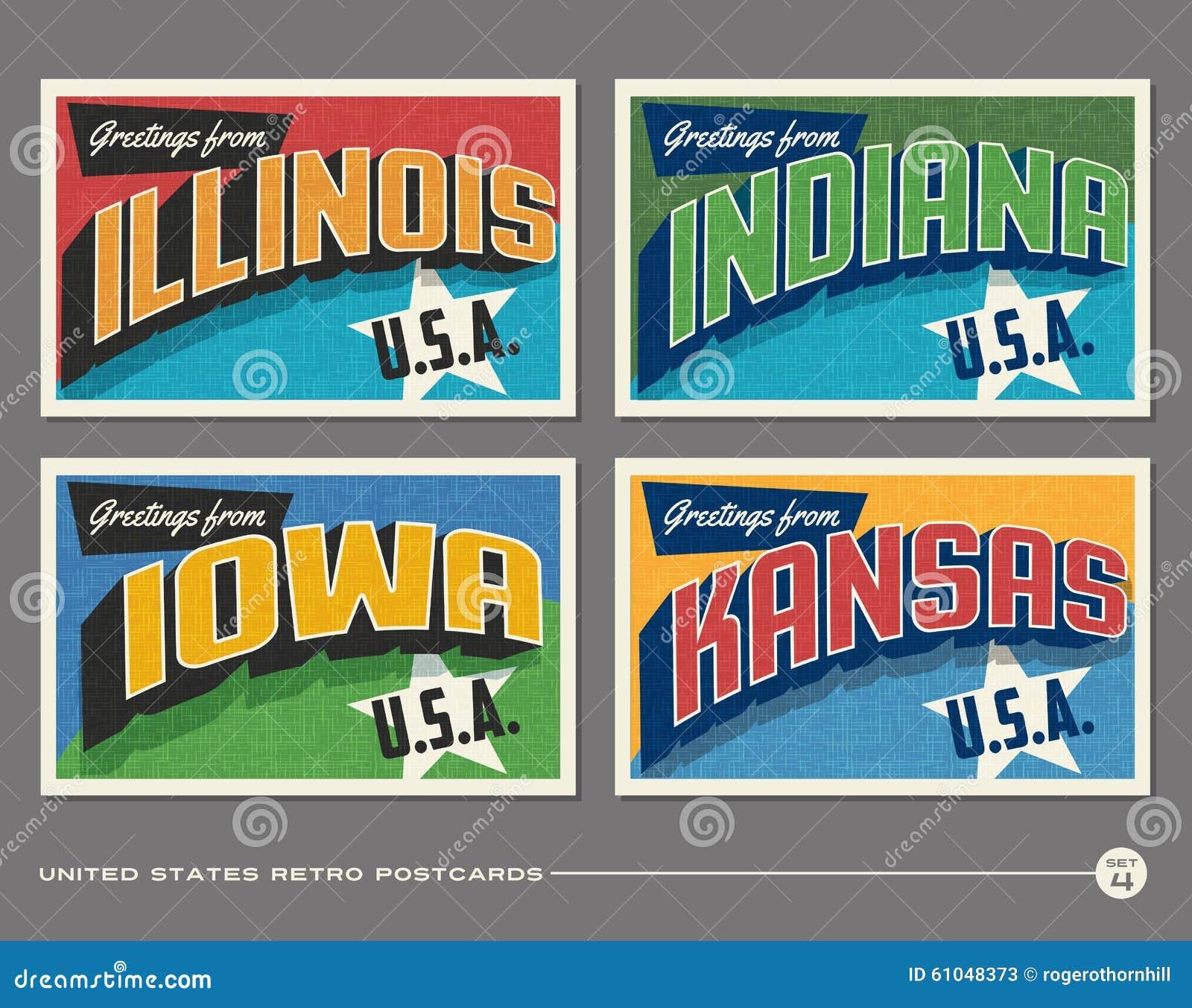 United states vintage typography postcards stock vector download united states vintage typography postcards stock vector illustration of greeting font 61048373 m4hsunfo