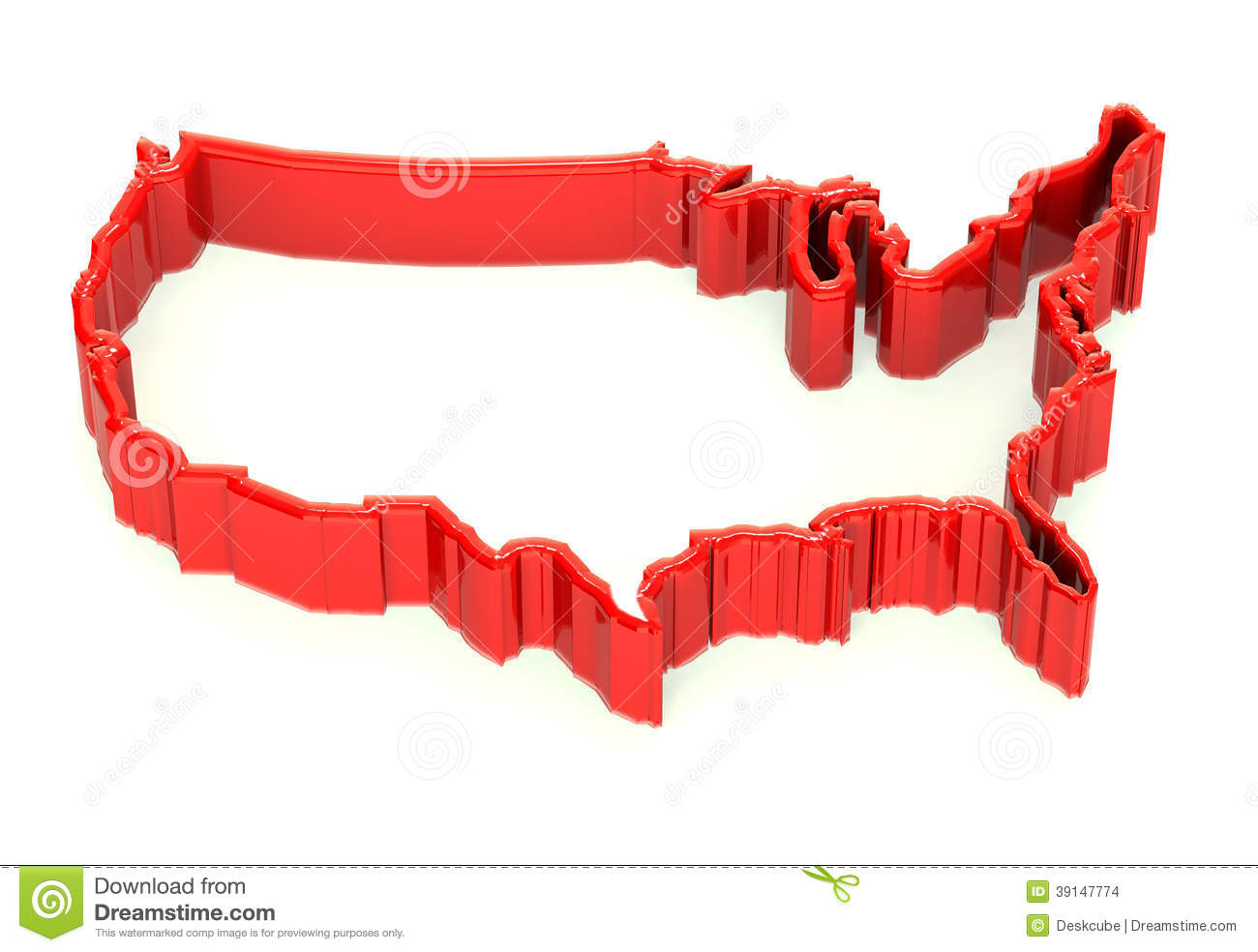 United States Map Immigration Wall Image Logo Stock Illustration