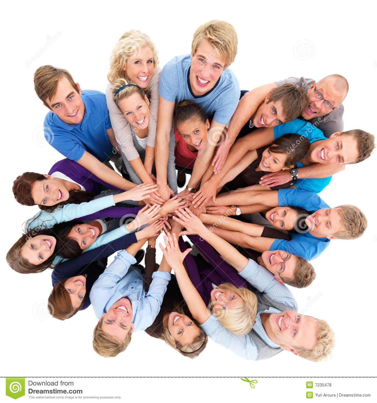 Unity Group Of People Working Together Stock Photo
