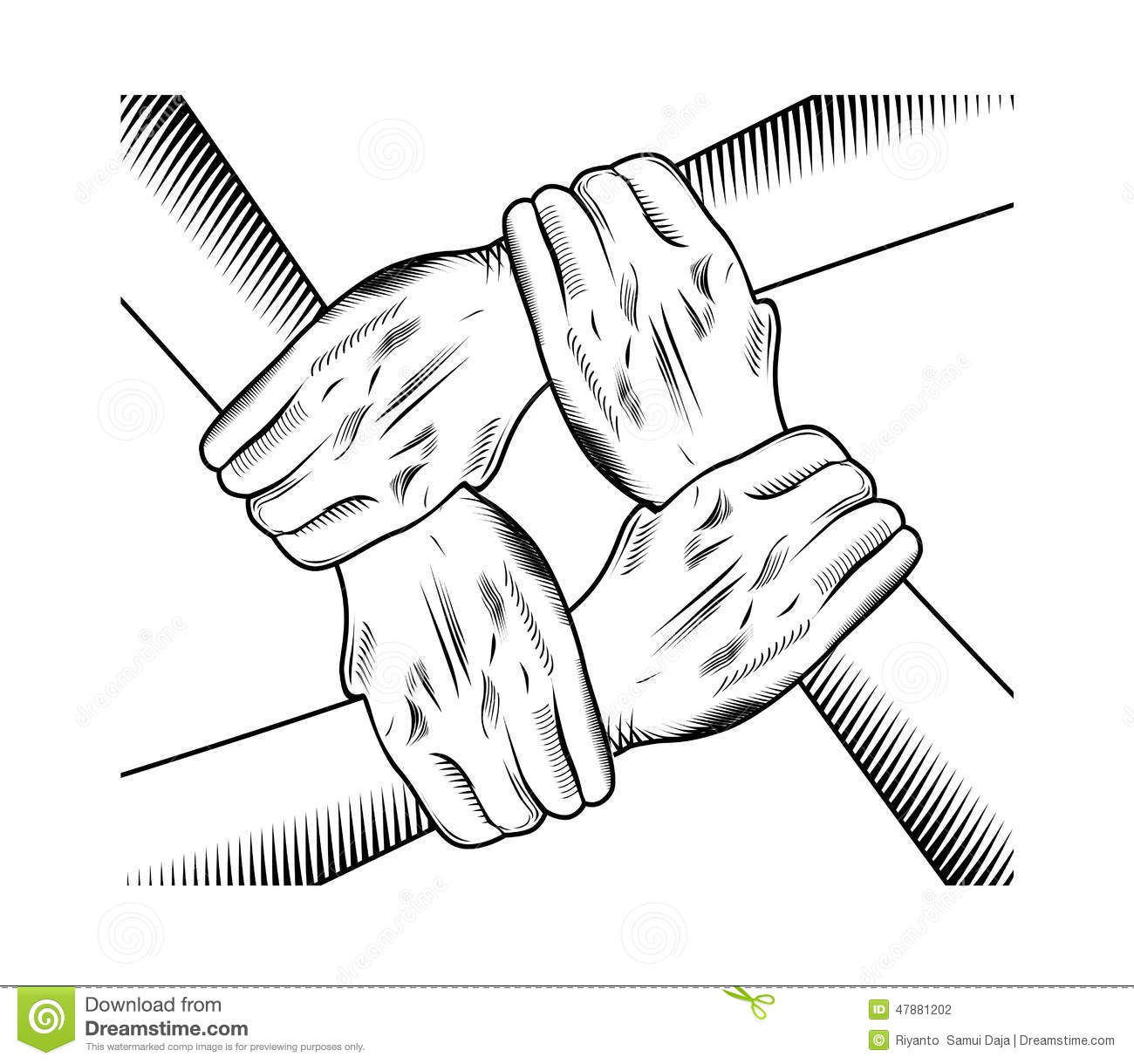 Vector Drawing Lines Unity : Unity hand stock vector illustration of business