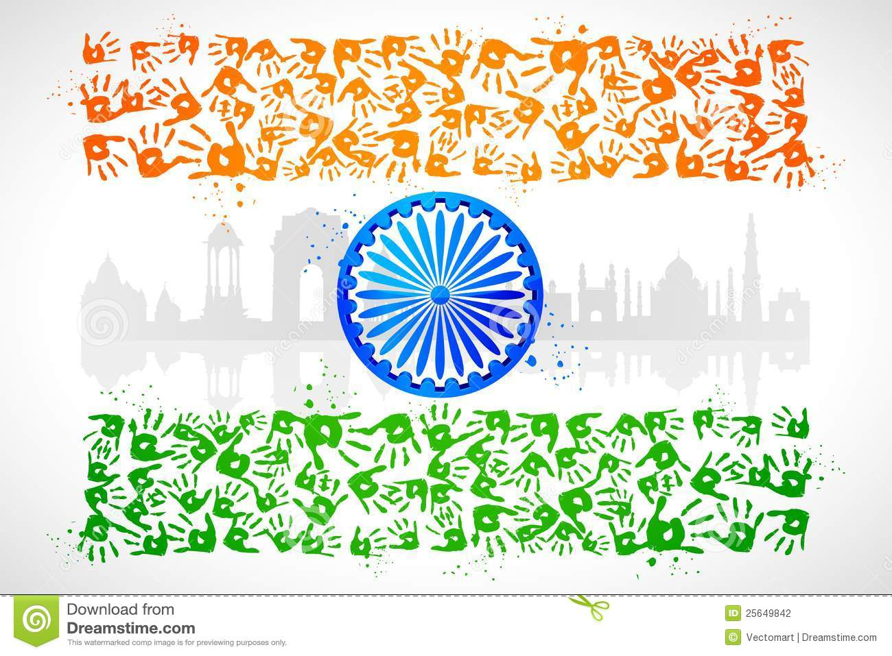 unity of india stock photography image 25649842 Handprint Clip Art Handprint Template