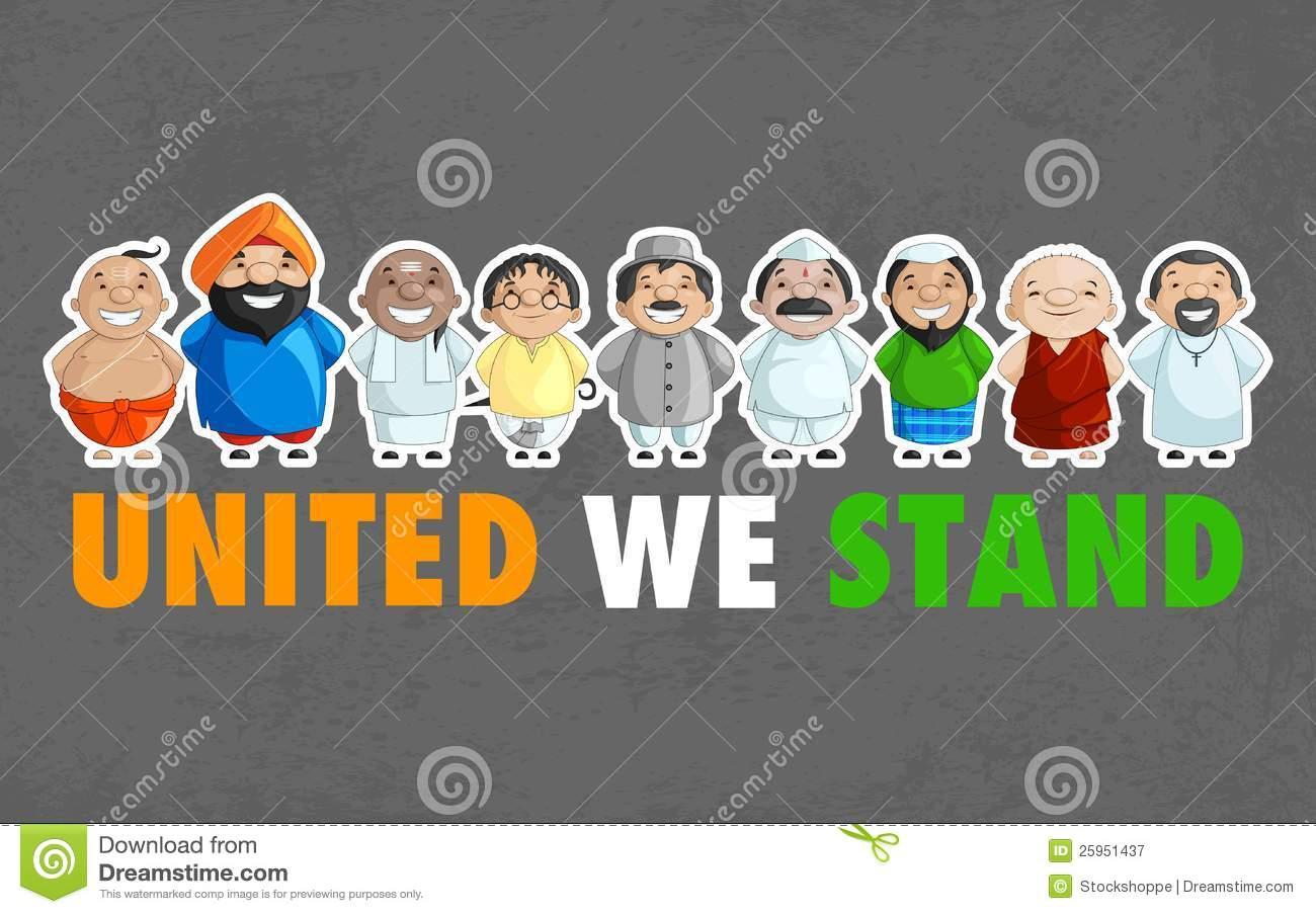Unity Of India Royalty Free Stock Photography - Image: 25951437