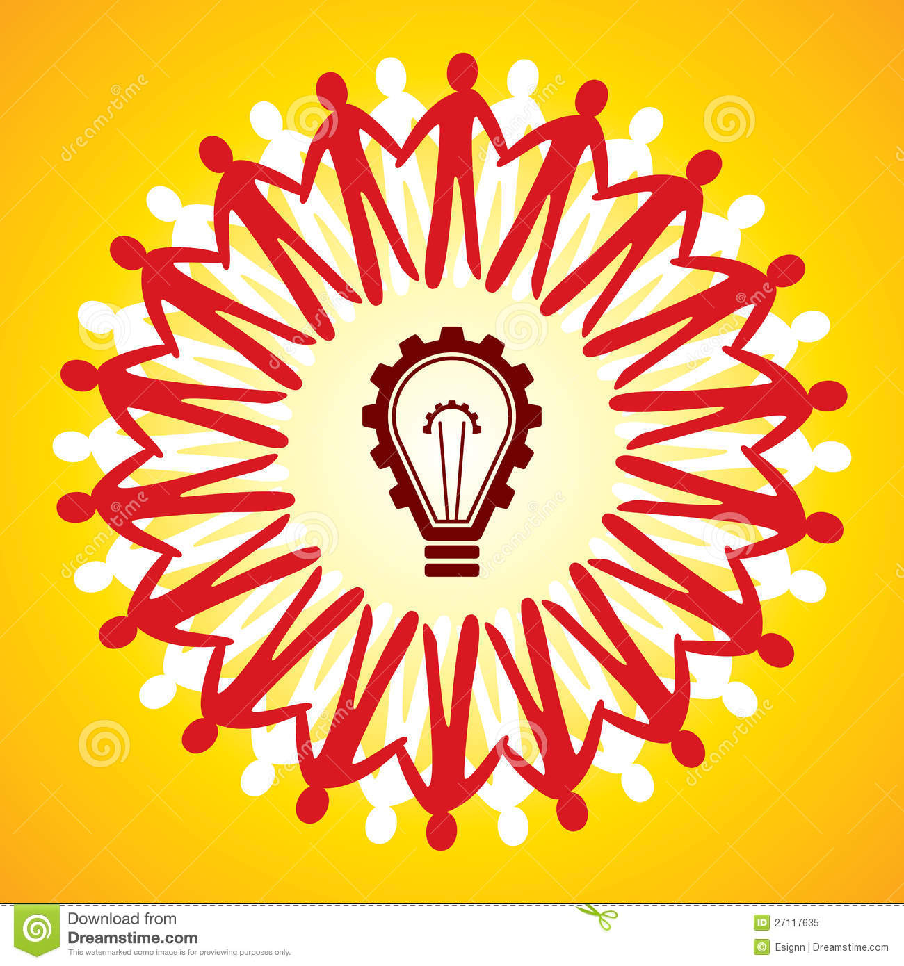 Unity Symbol With Idea Concept Stock Vector Illustration Of