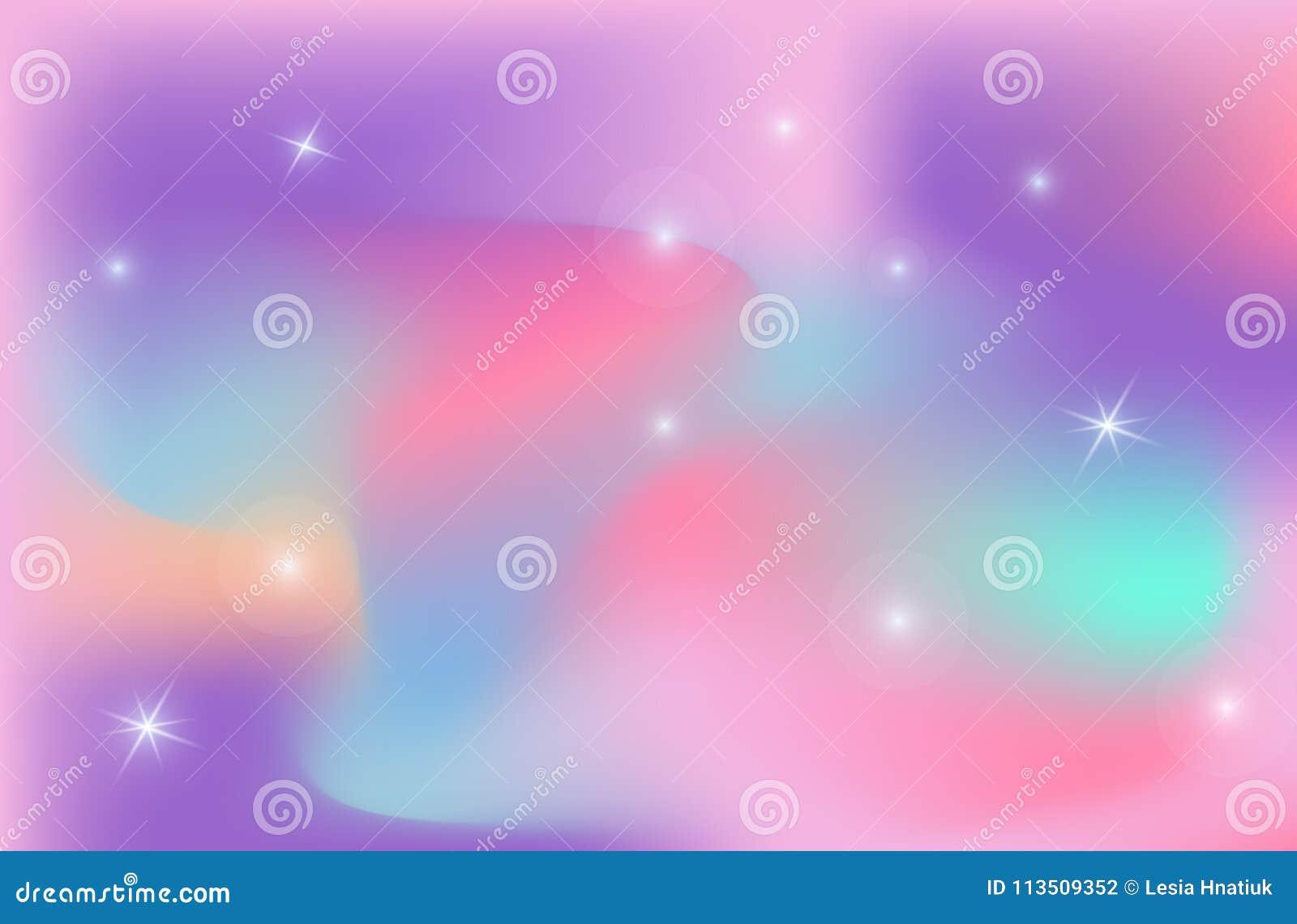 Univers de vecteur de maille de gradient de couleur de fond de contexte de licorne