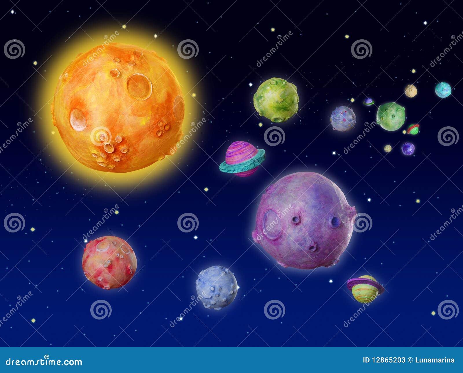 Univers Fabrique A La Main D Imagination De Planetes De L Espace