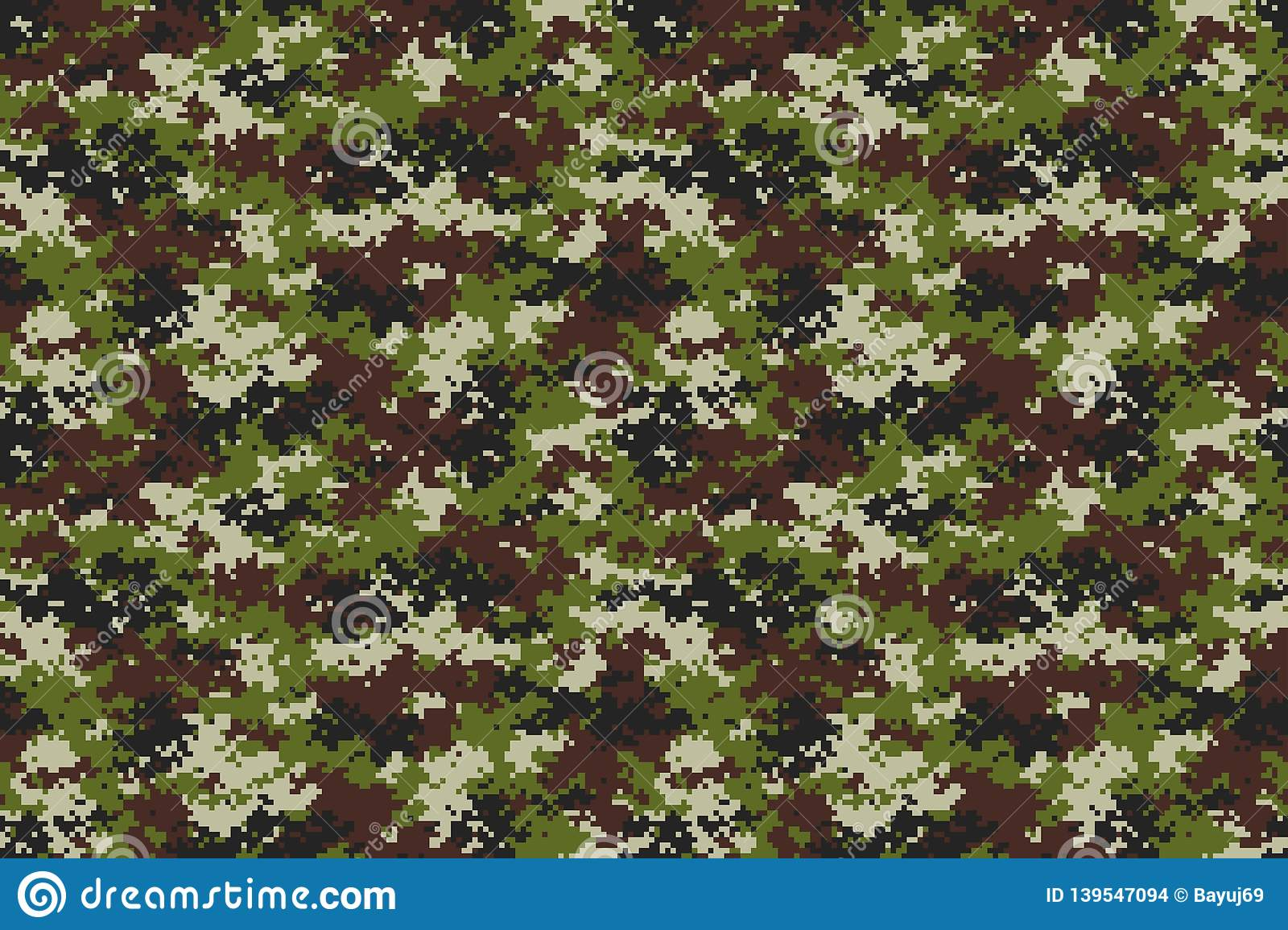 Universal Camouflage Pattern Vector Graphic