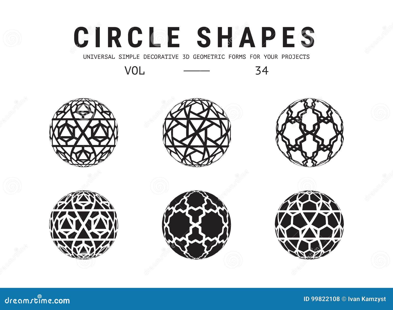 Universal Circle Shapes Set Stock Vector - Illustration of