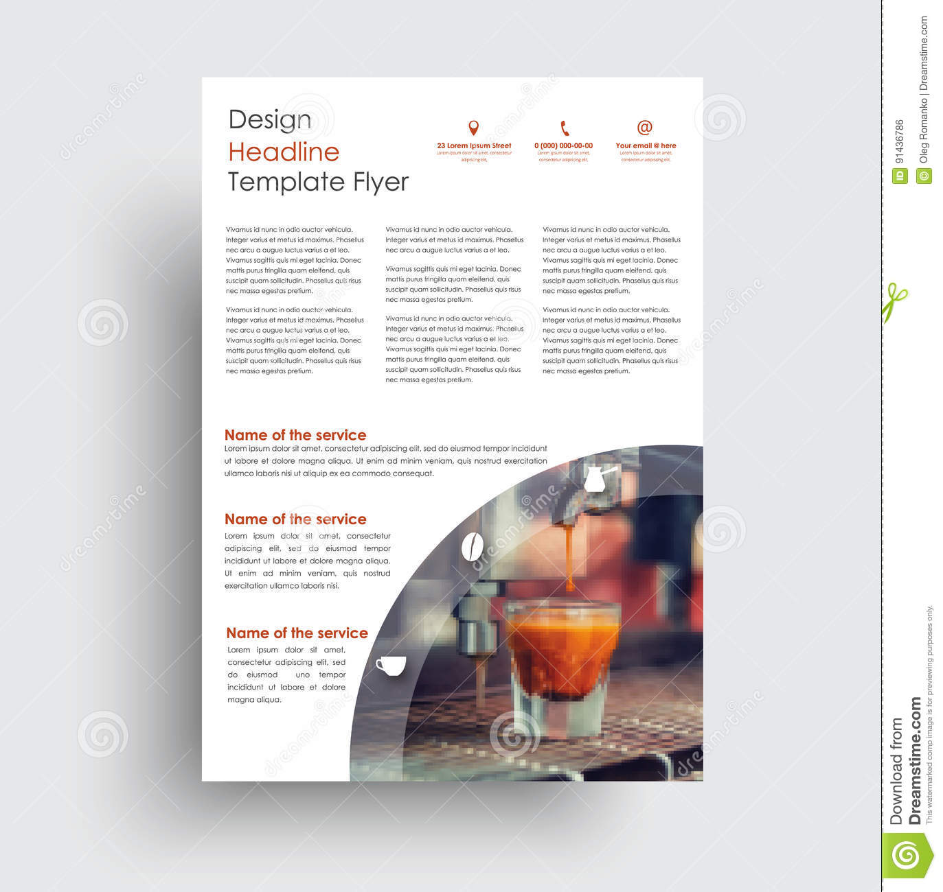 universal design flyer for advertising business sports food stock