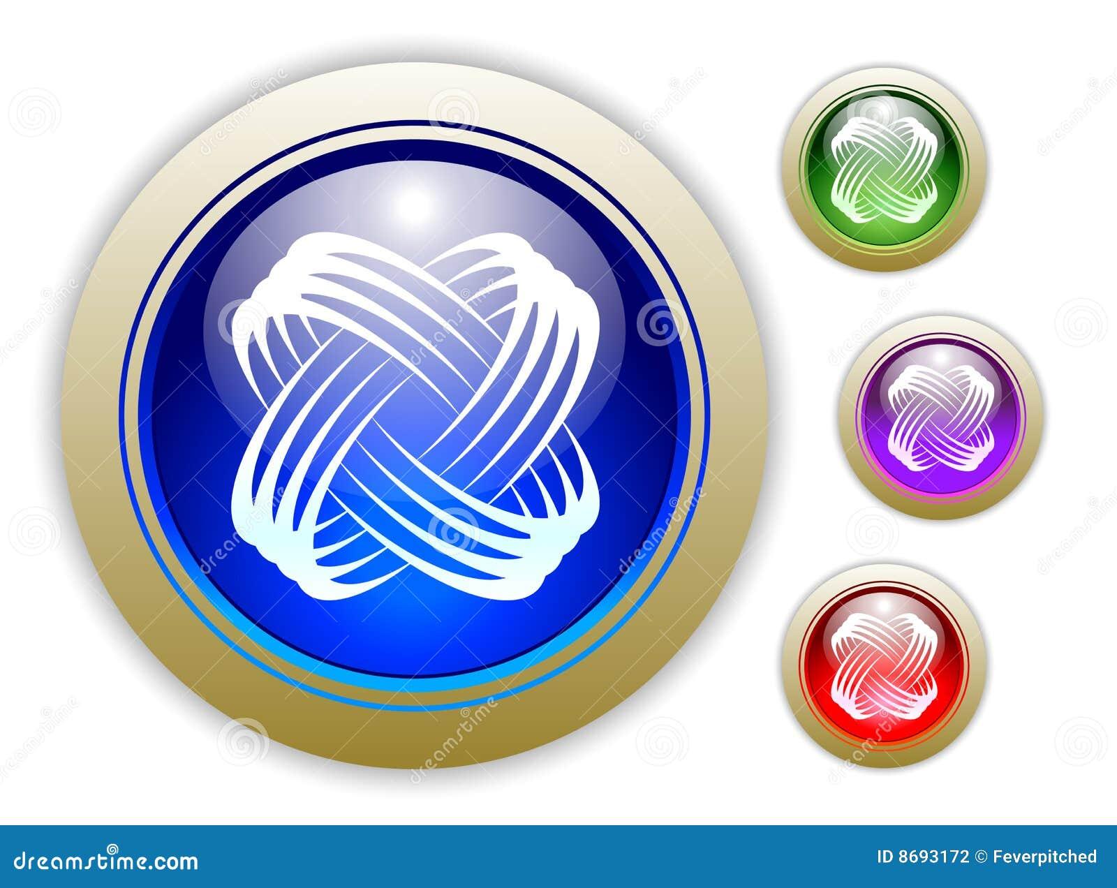 Universal Dynamic Icon Button Set of Four