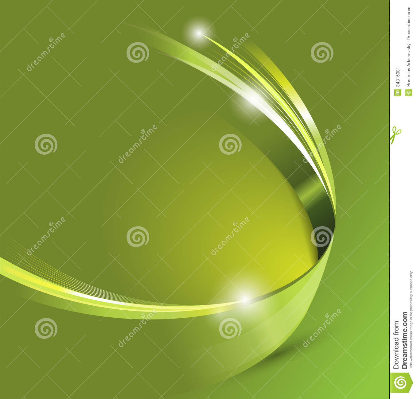 universal green abstract vector background with 3d effect
