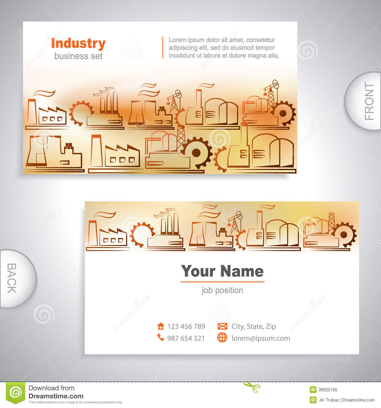 Universal Industrial Business Card Stock Vector - Illustration of ...