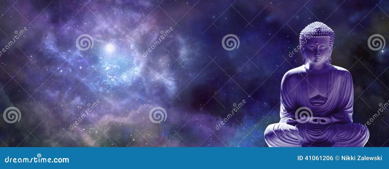 Universal Meditating Buddha web banner