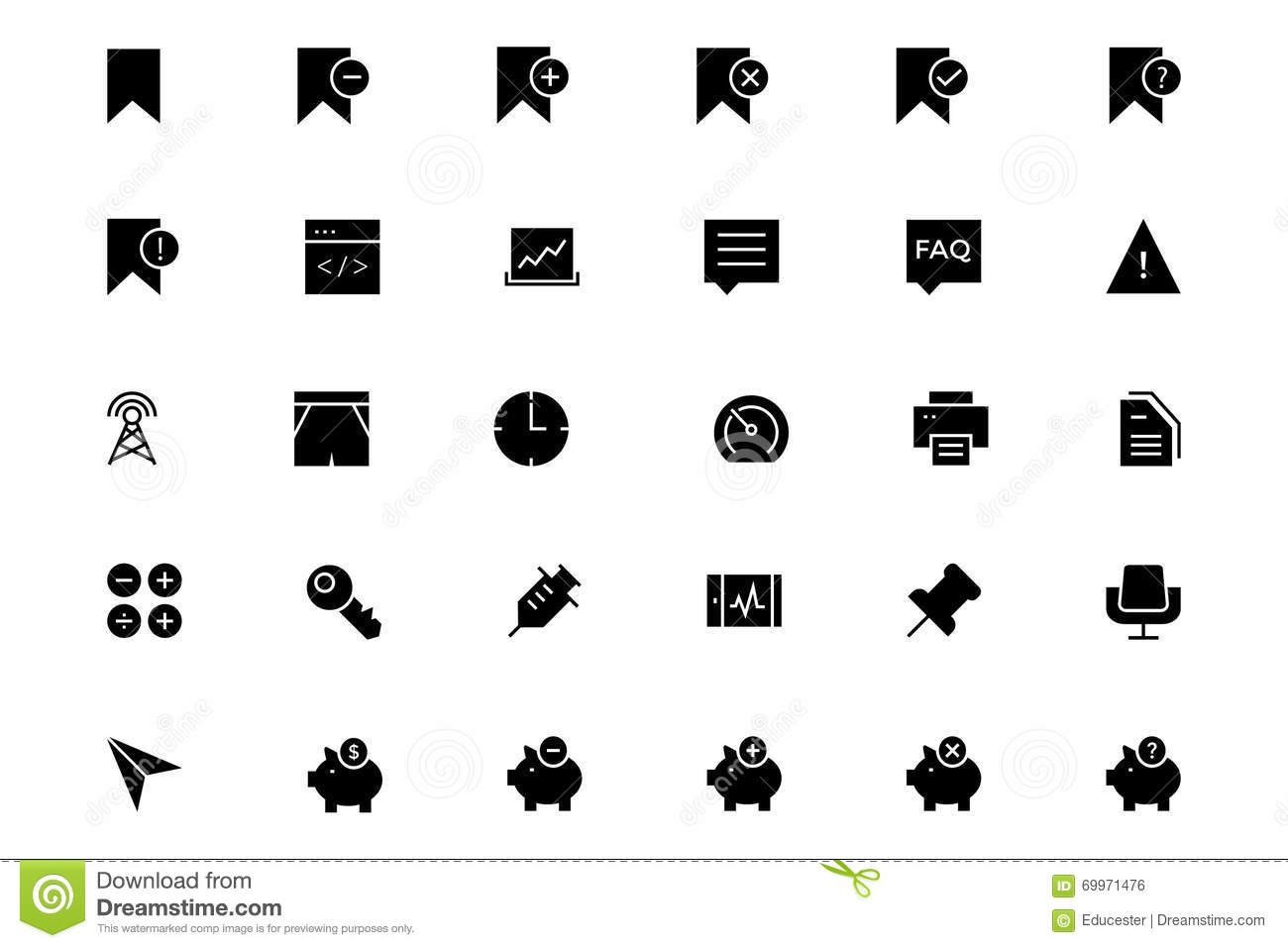 Universal Mobile Vector Icons 8 Stock Illustration