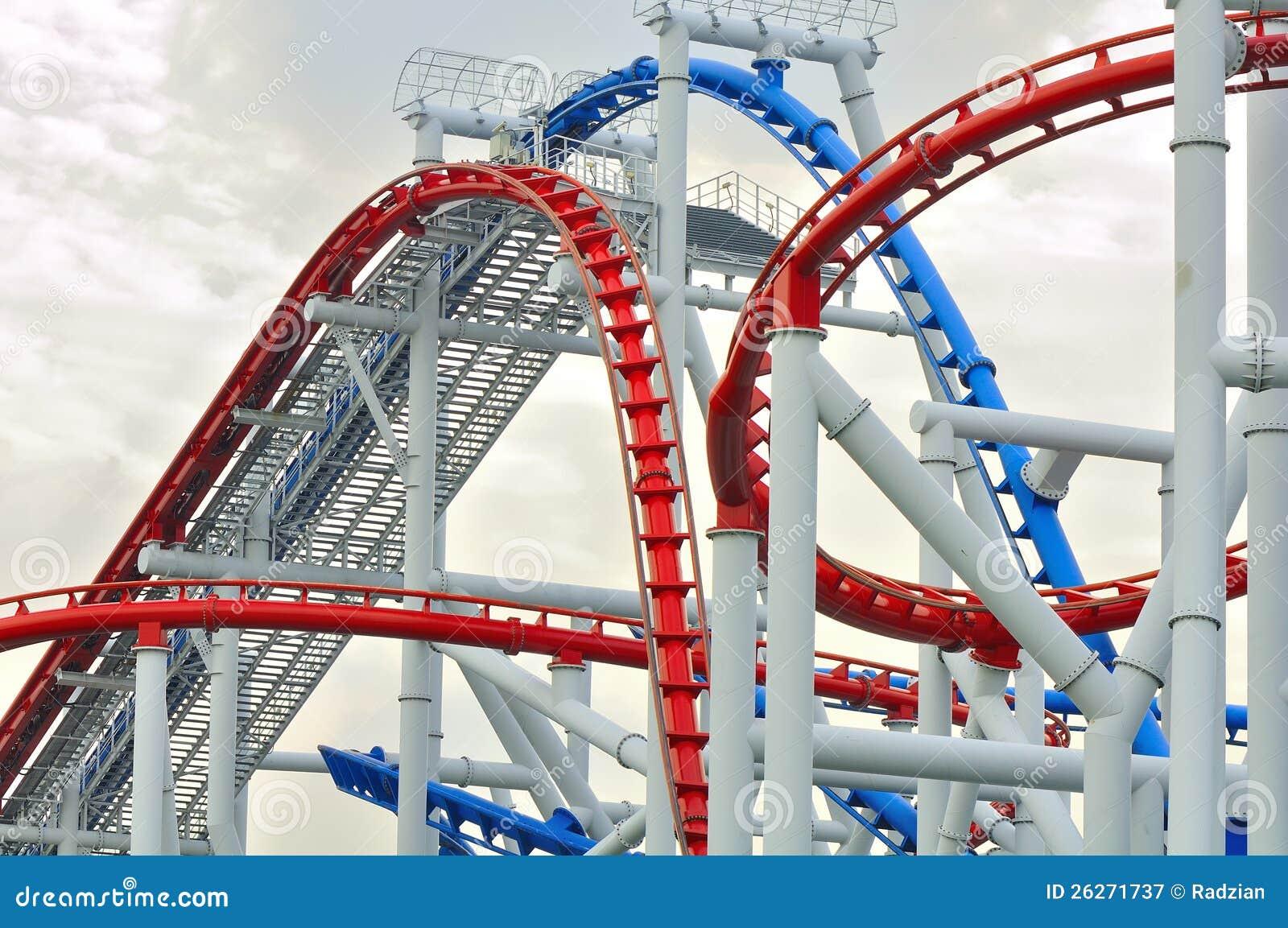 Universal Studio Singapore Roller Coaster Editorial