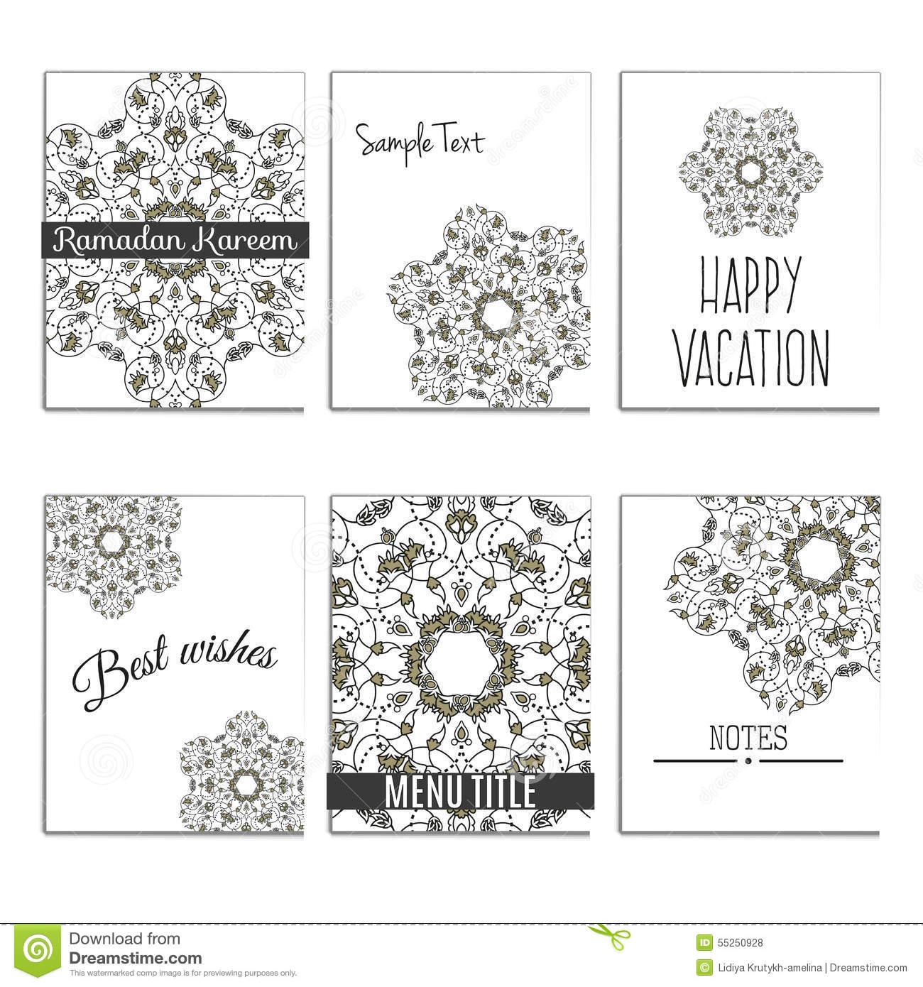 Quran Book Cover Template : Universal templates with moroccan islamic ornament