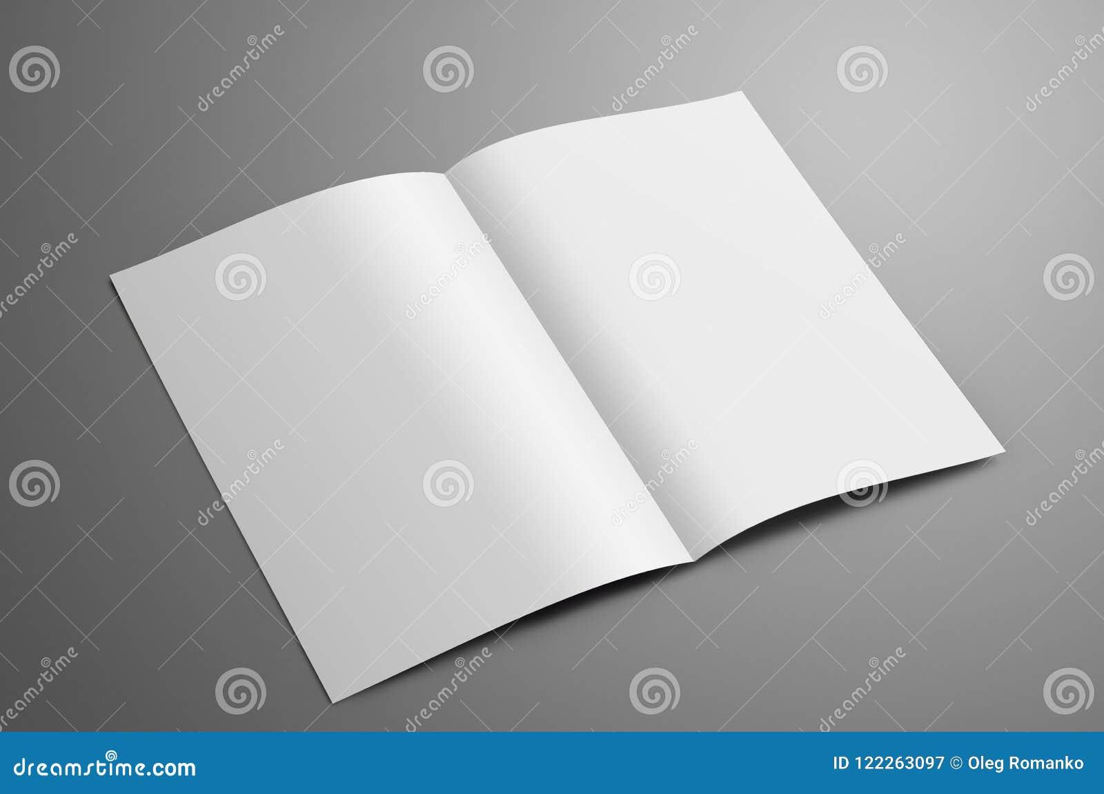 Universalmellanrum ett A4, bi-veck A5 broschyr med skuggaiso