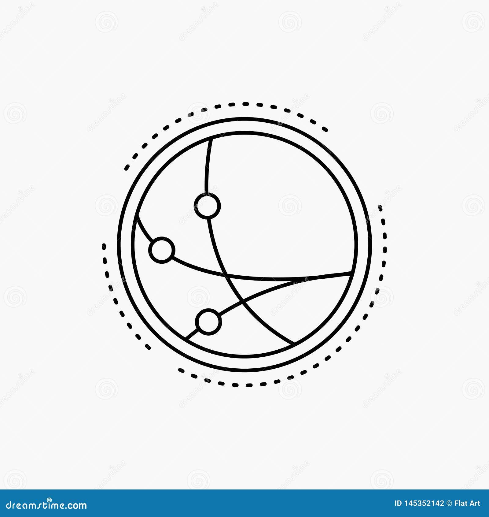 Universalmente, comunicazione, collegamento, Internet, linea icona della rete Illustrazione isolata vettore