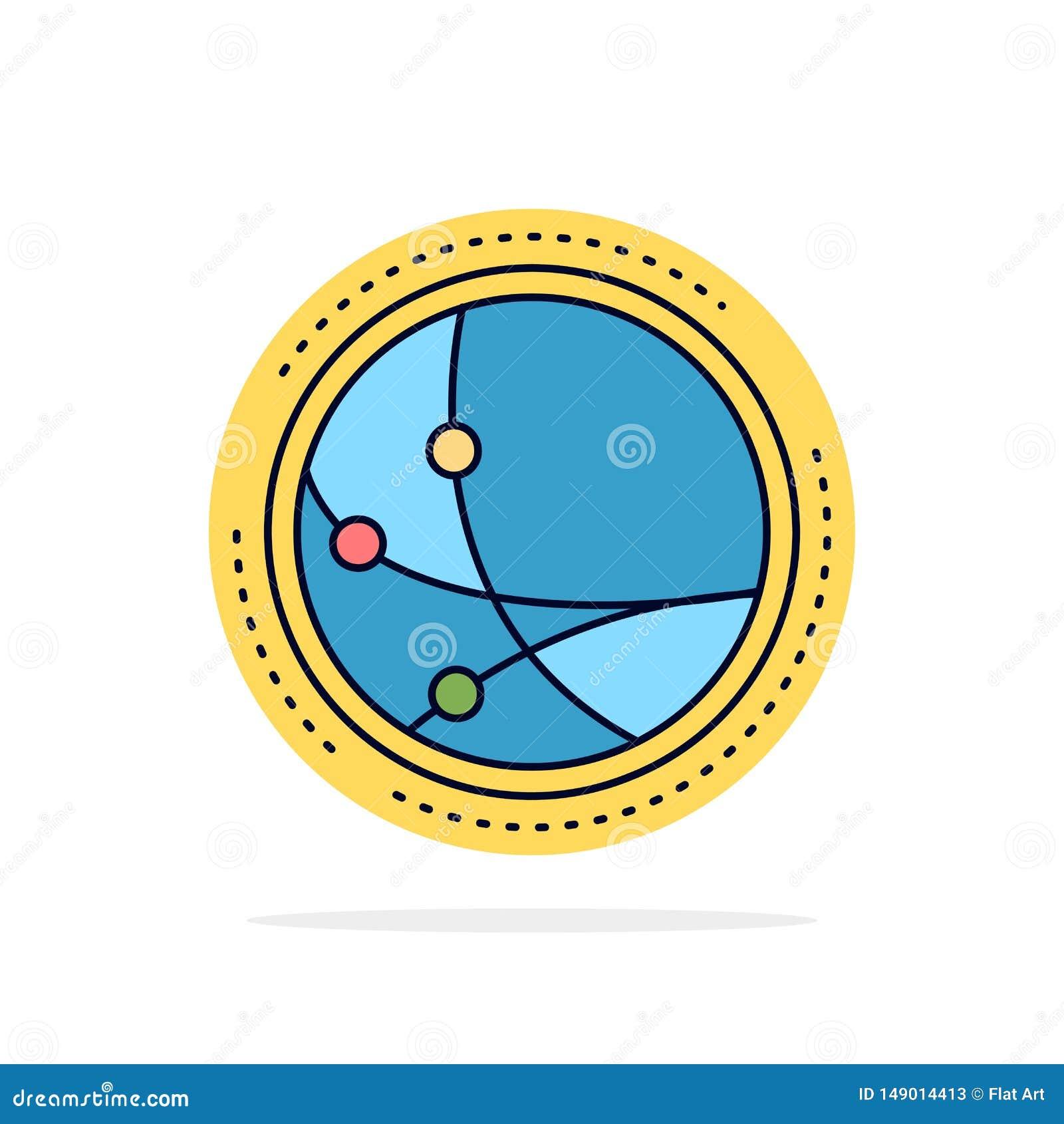 Universalmente, comunicazione, collegamento, Internet, vettore piano dell icona di colore della rete