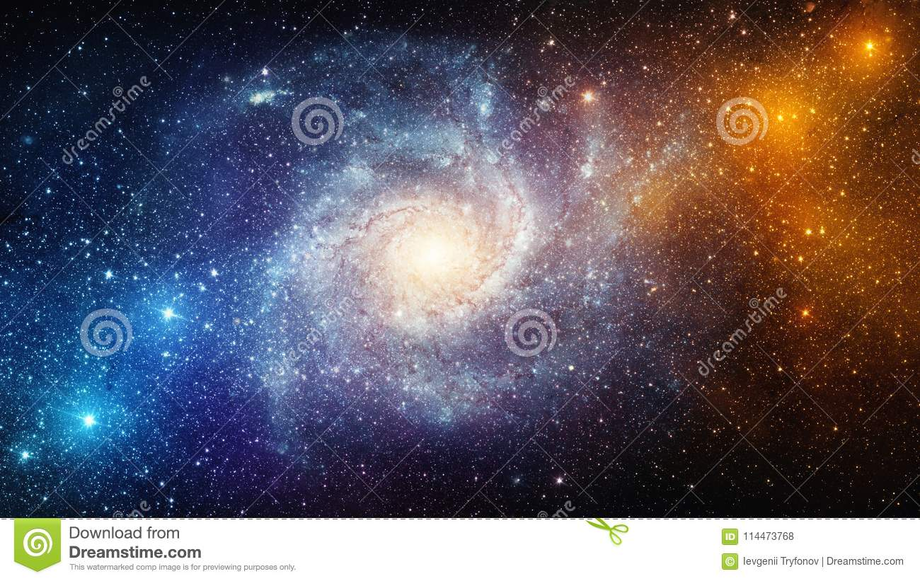 Universe filled with stars, nebula and galaxy. Elements of this
