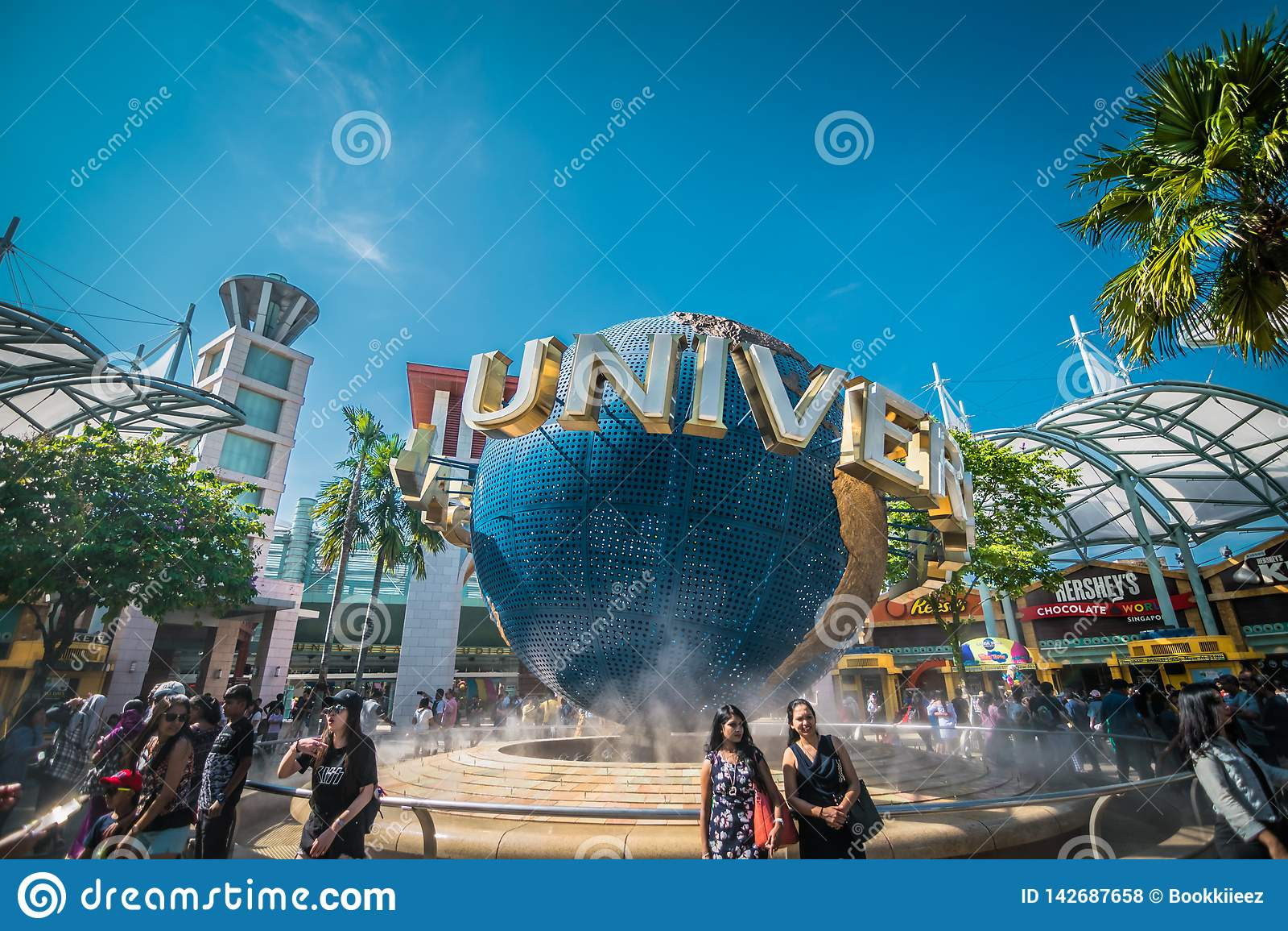 Universele die Studio Singapore, een themapark binnen Toevluchtwereld Sentosa wordt gevestigd op Sentosa-Eiland, Singapor