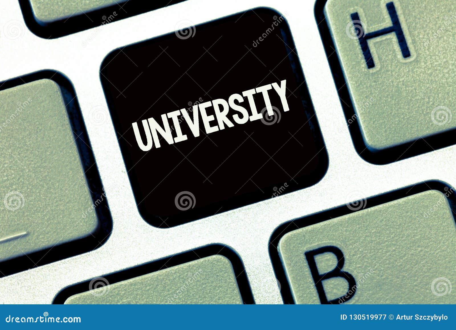Universidad de la escritura del texto de la escritura El concepto que significa a estudiantes de alto nivel de la institución edu