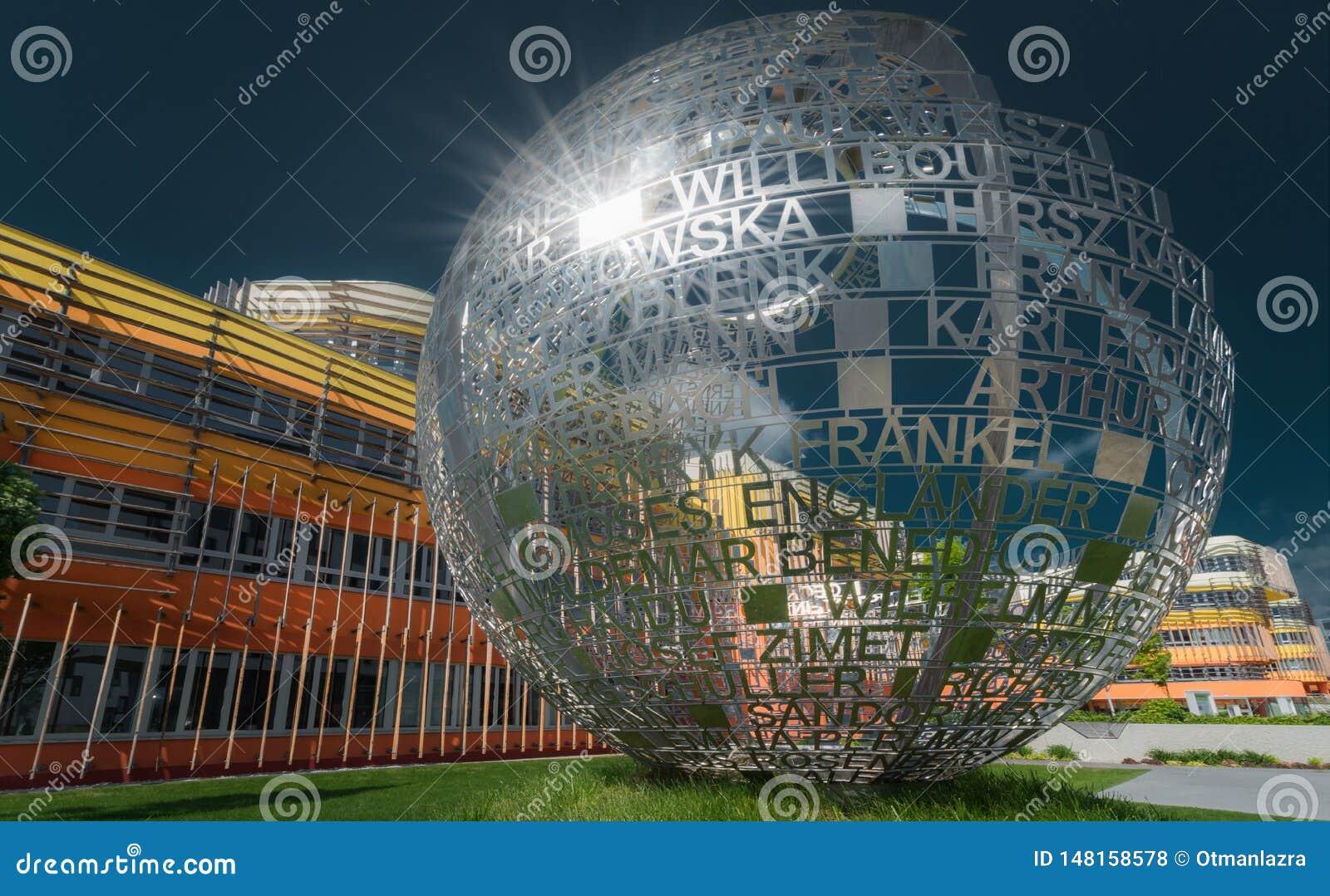 Universidade da escultura da economia em Viena