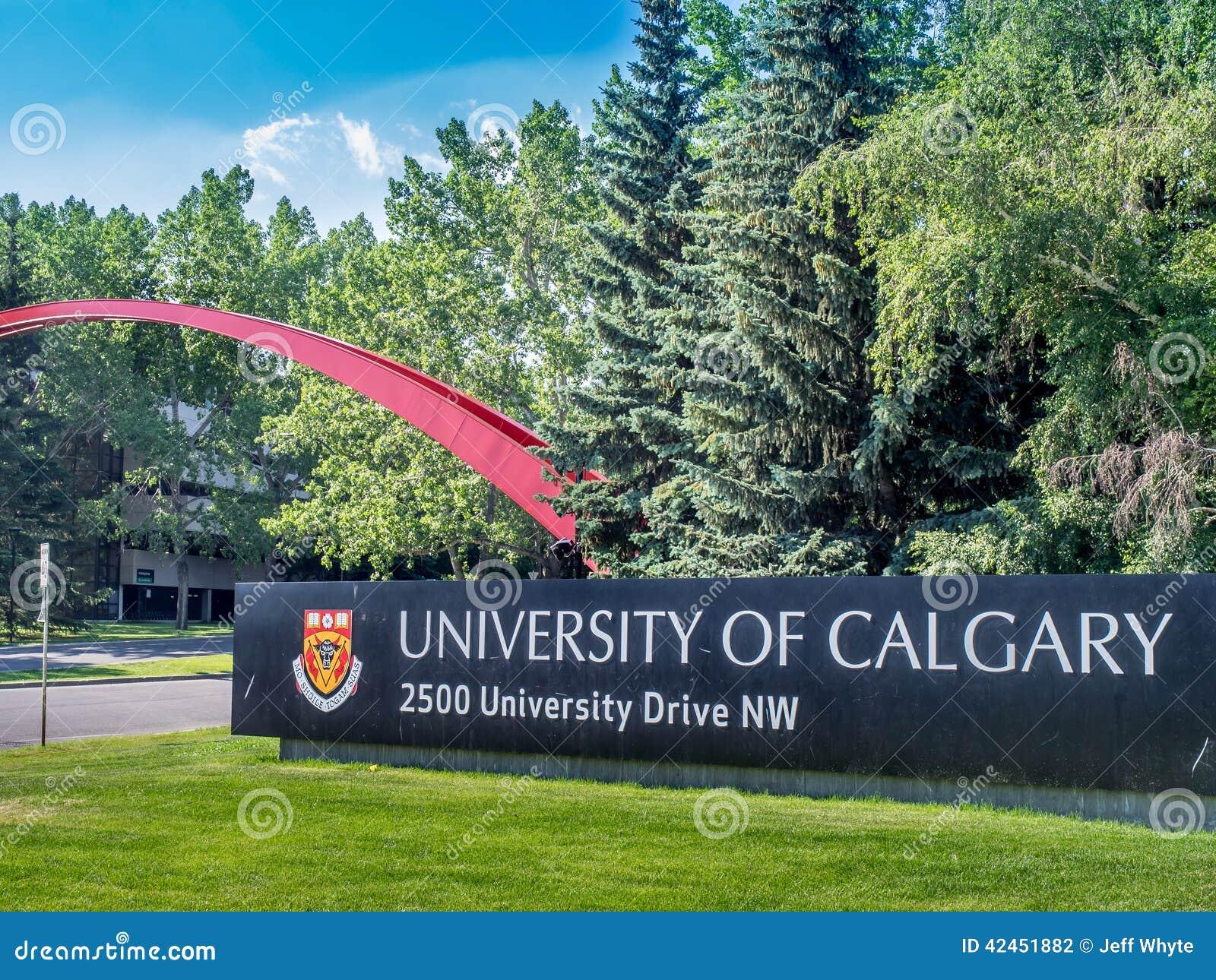 Universität des Calgary-Eingangszeichens
