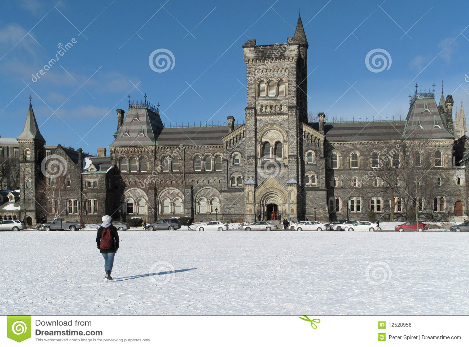 Universität im Winter