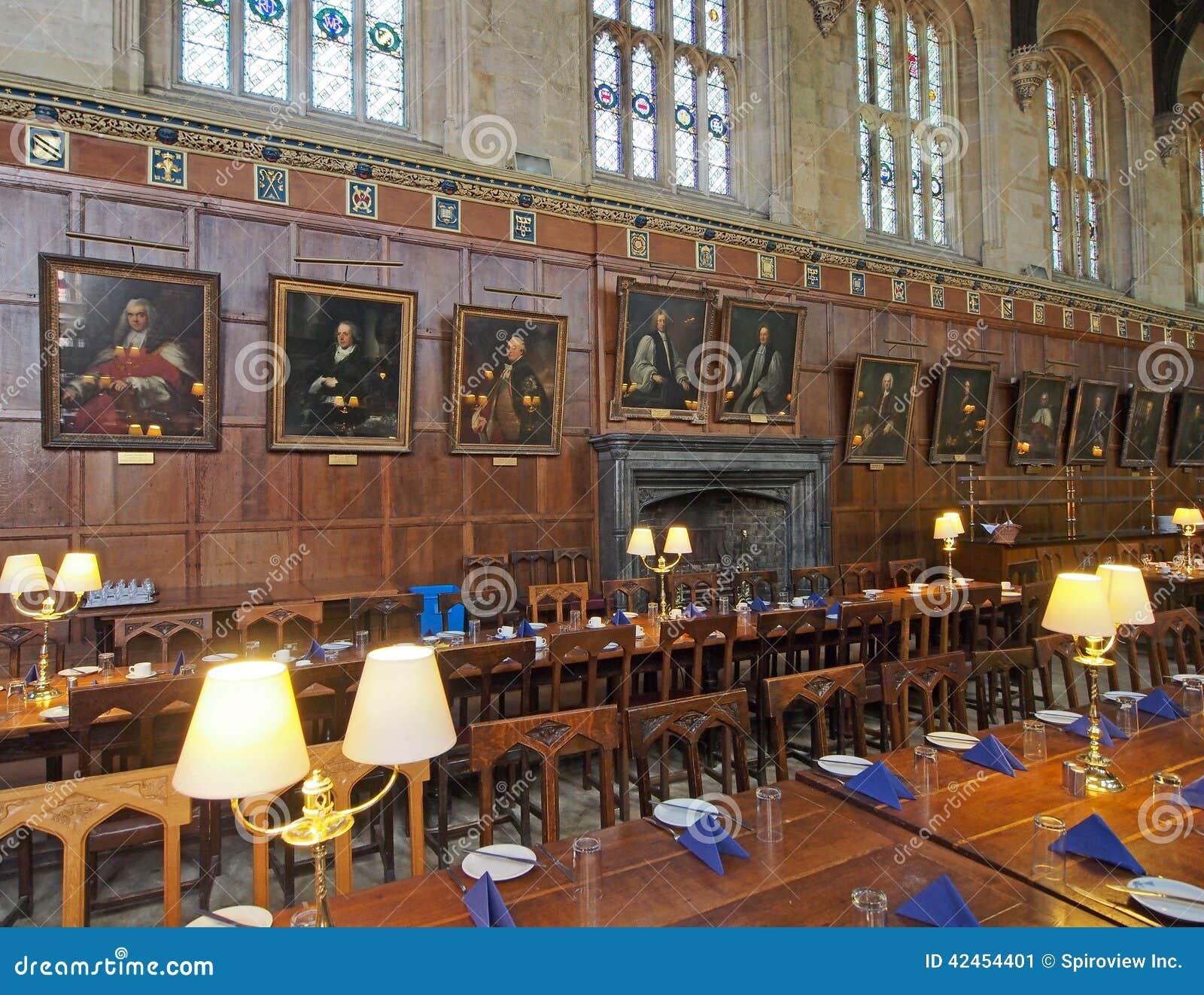 Universität von Oxfords-Collegespeisesaal