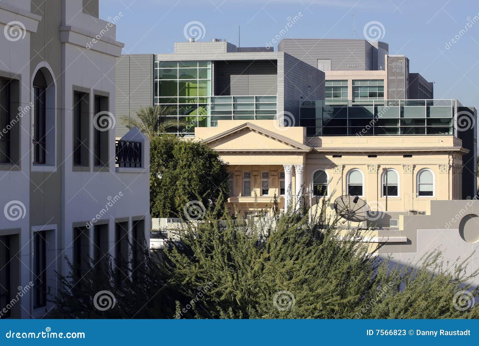 Universitaire Campus de van de binnenstad van Phoenix