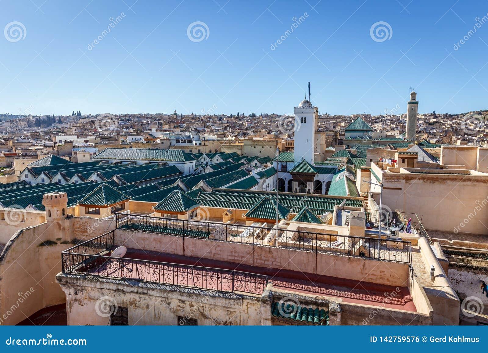 University Of Al-Karaouine In Fez, Morocco Stock Photo