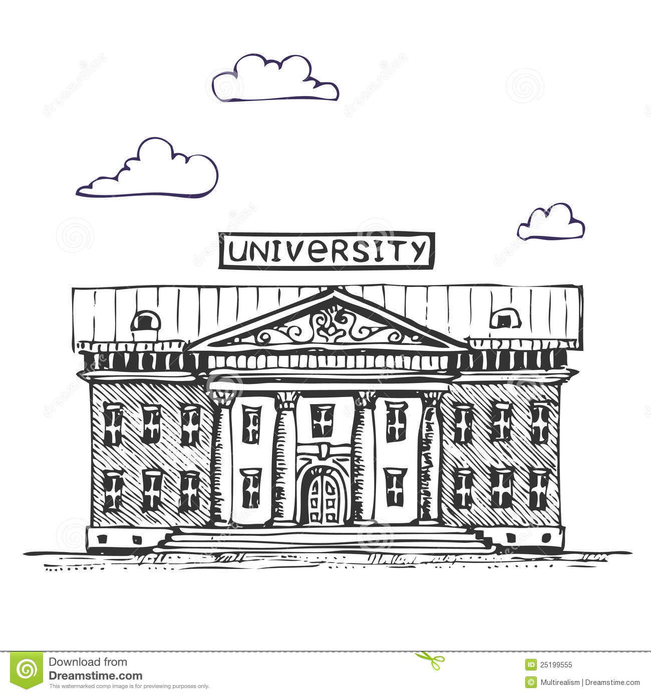 University building stock vector illustration of for U of a architecture building