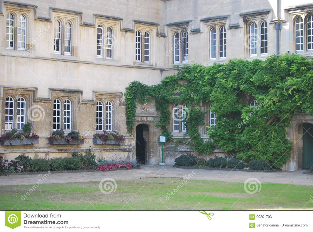 University Building In Oxford, The UK Stock Image - Image of