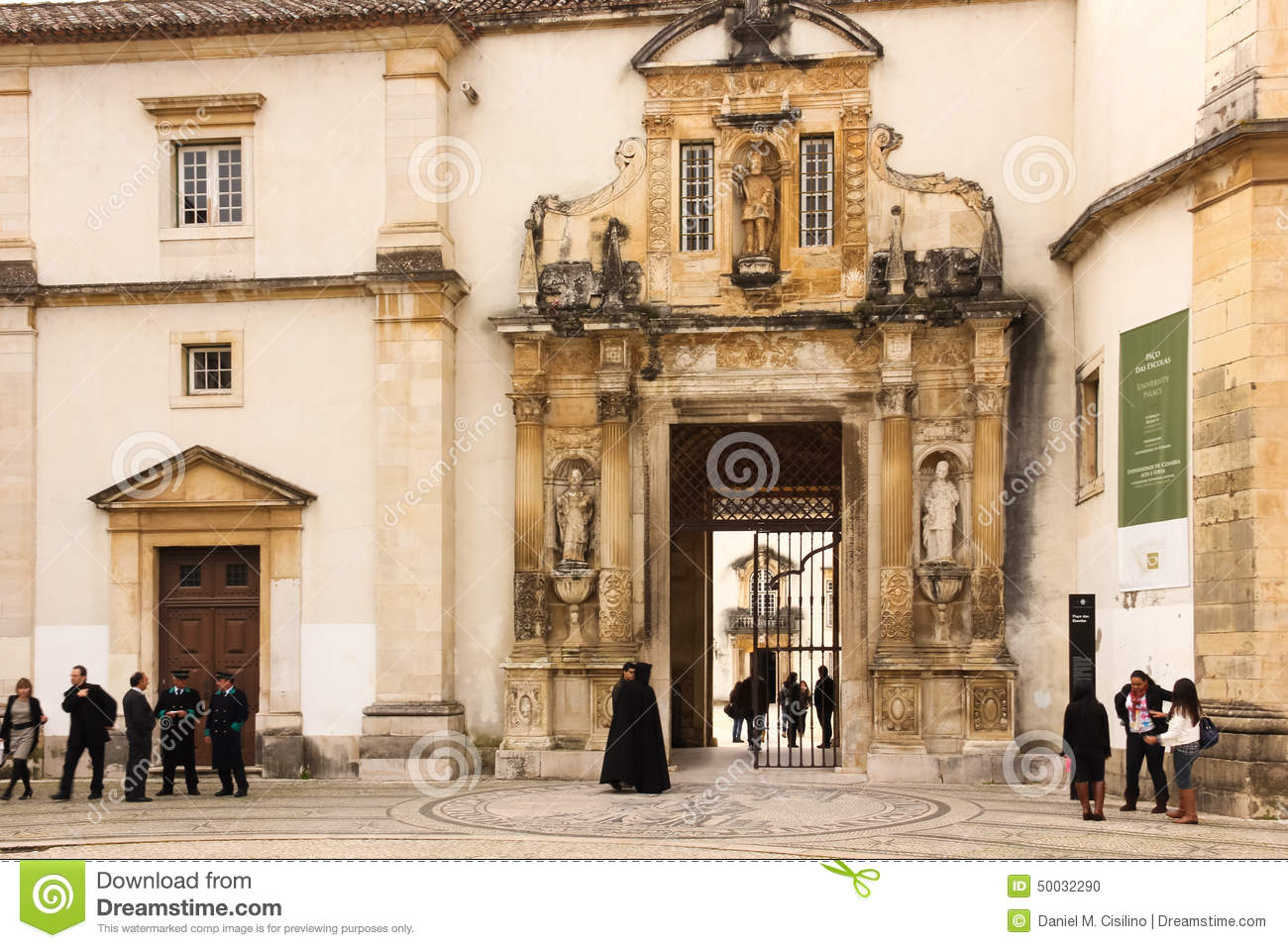 Download University Entrance . Coimbra . Portugal Editorial Image - Image of building, entrance: 50032290