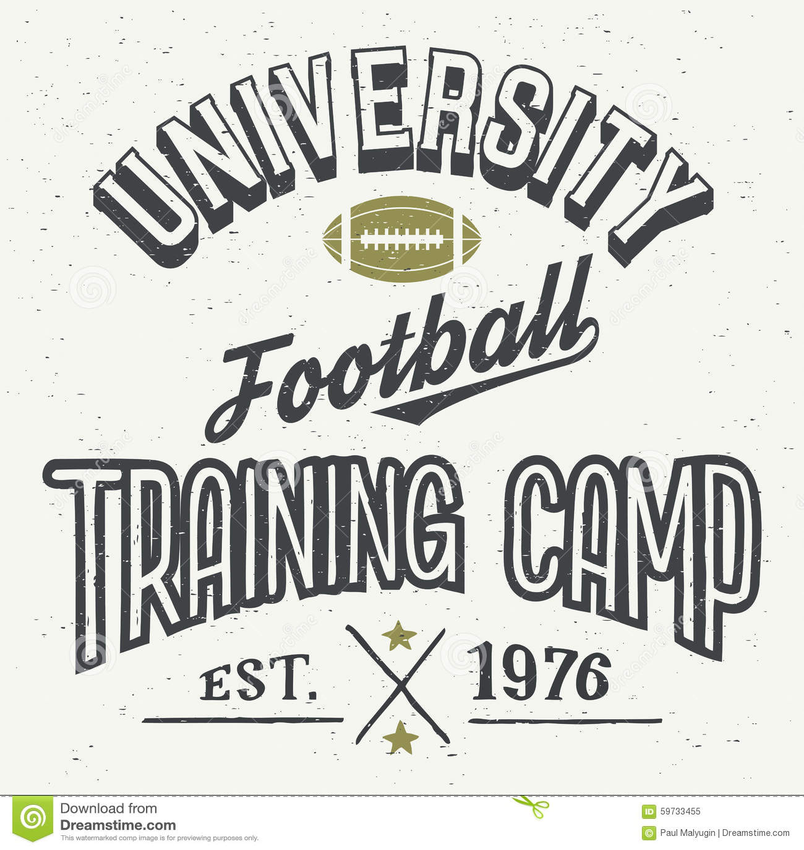Design t shirt universiti - University Football Training Camp T Shirt