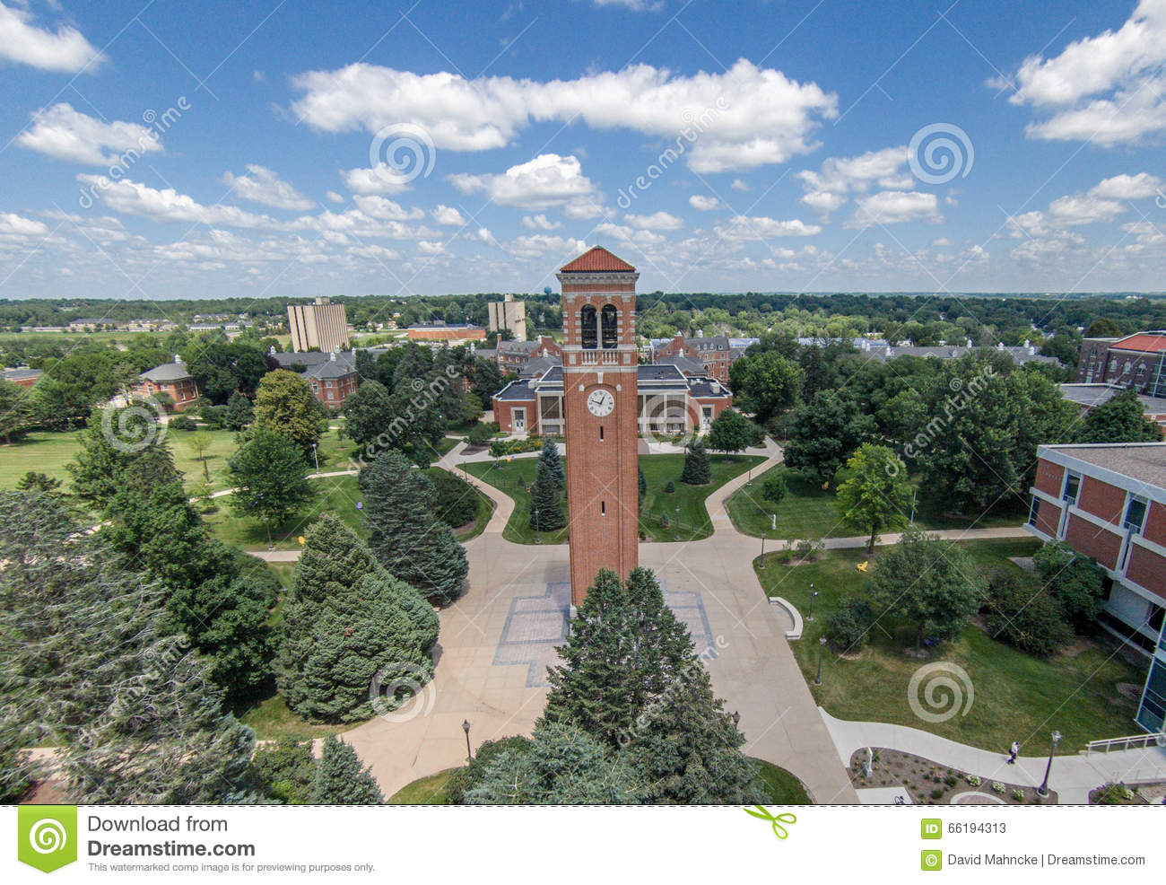 University Of Northern Iowa Campanile Editorial Stock Photo - Image of campus, cedar: 66194313