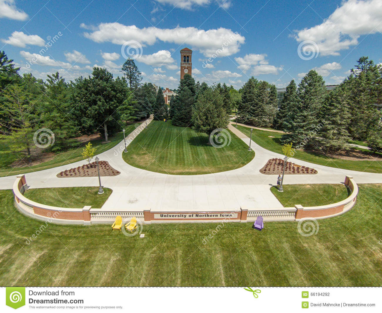 University Of Northern Iowa Campus Editorial Photography - Image: 66194292